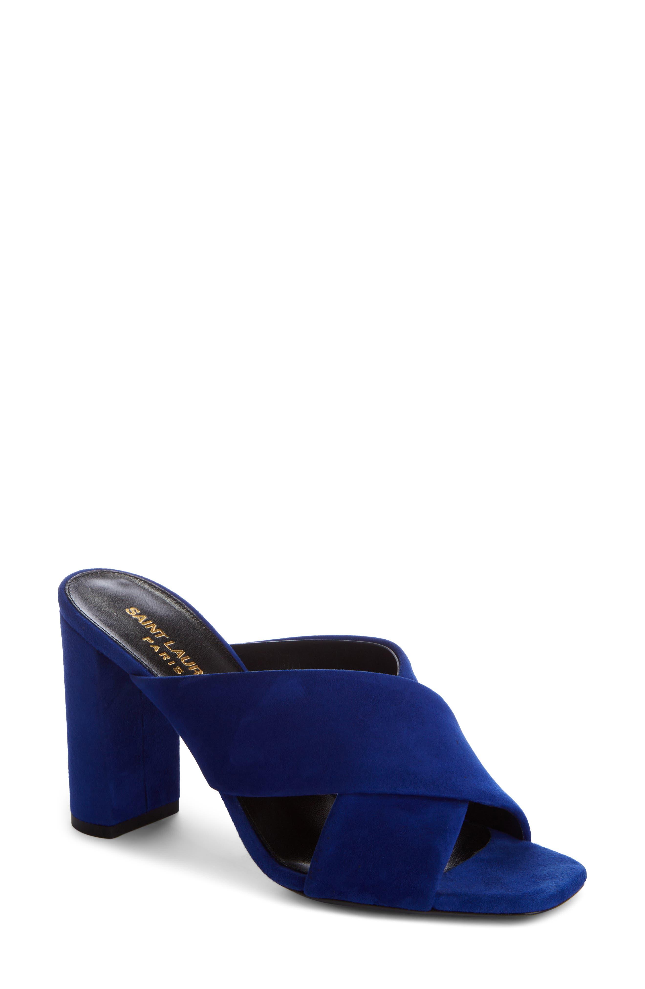 Loulou Sandal,                             Main thumbnail 1, color,                             Electric Blue