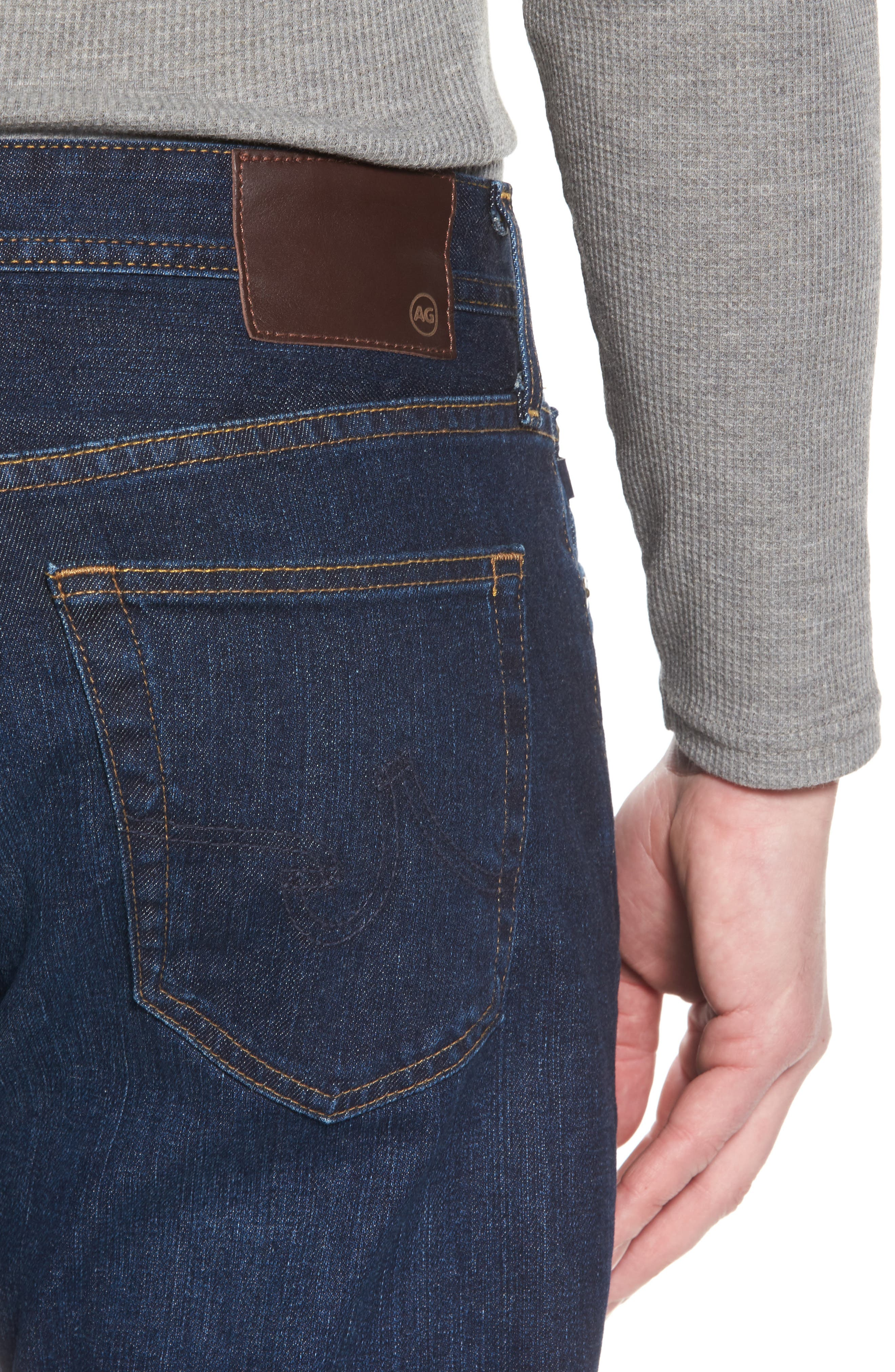 Alternate Image 4  - AG Ives Straight Fit Jeans (Series)