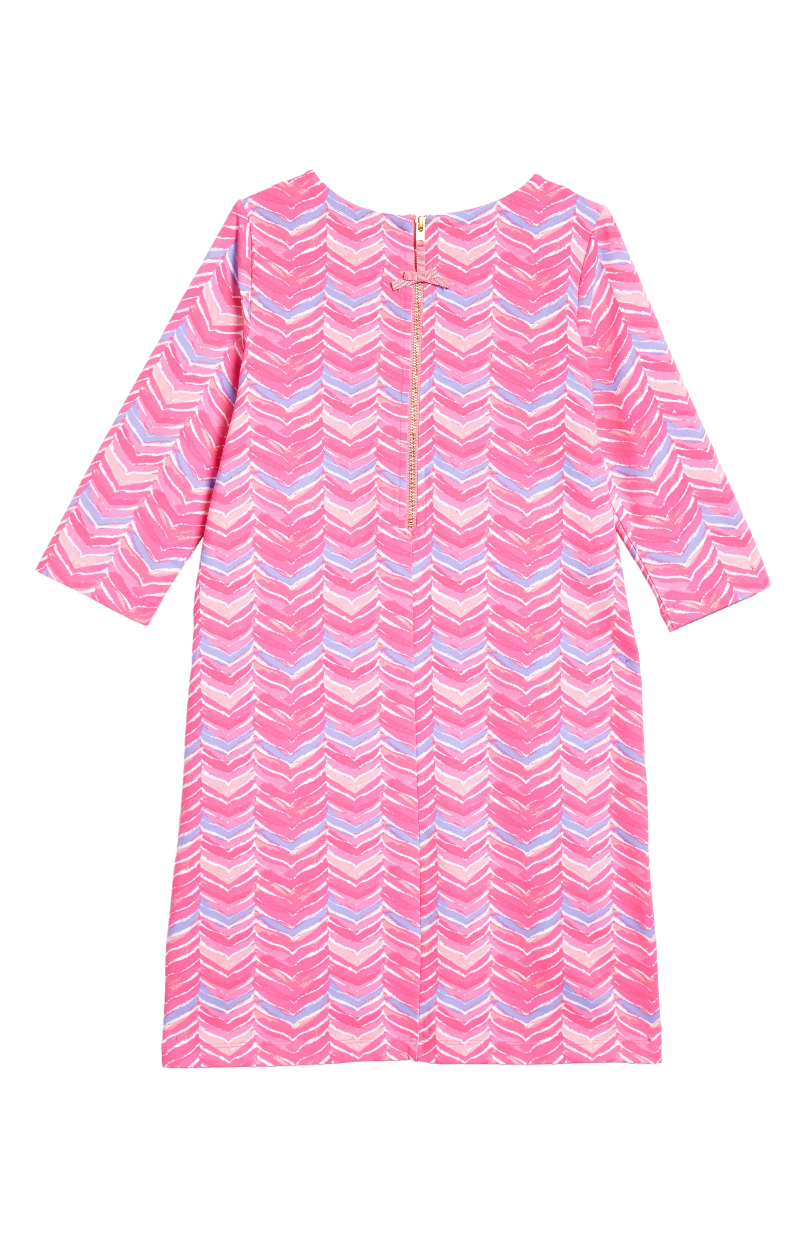 Watercolor Whale Tail Print Dress,                             Alternate thumbnail 2, color,                             Pink Sherbet