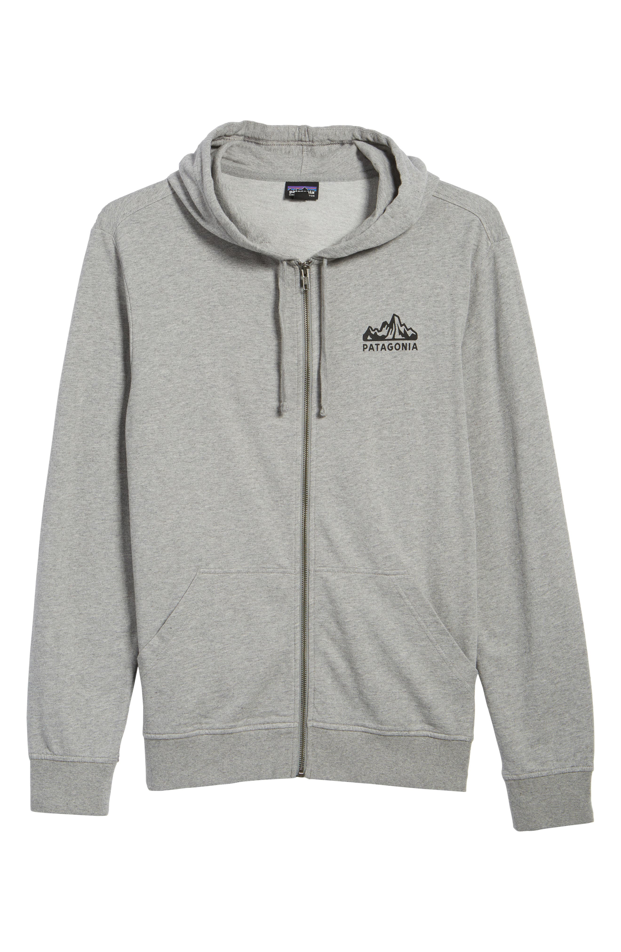 Fitz Roy Frostbite PolyCycle<sup>®</sup> Full Zip Hoodie,                             Alternate thumbnail 6, color,                             Feather Grey