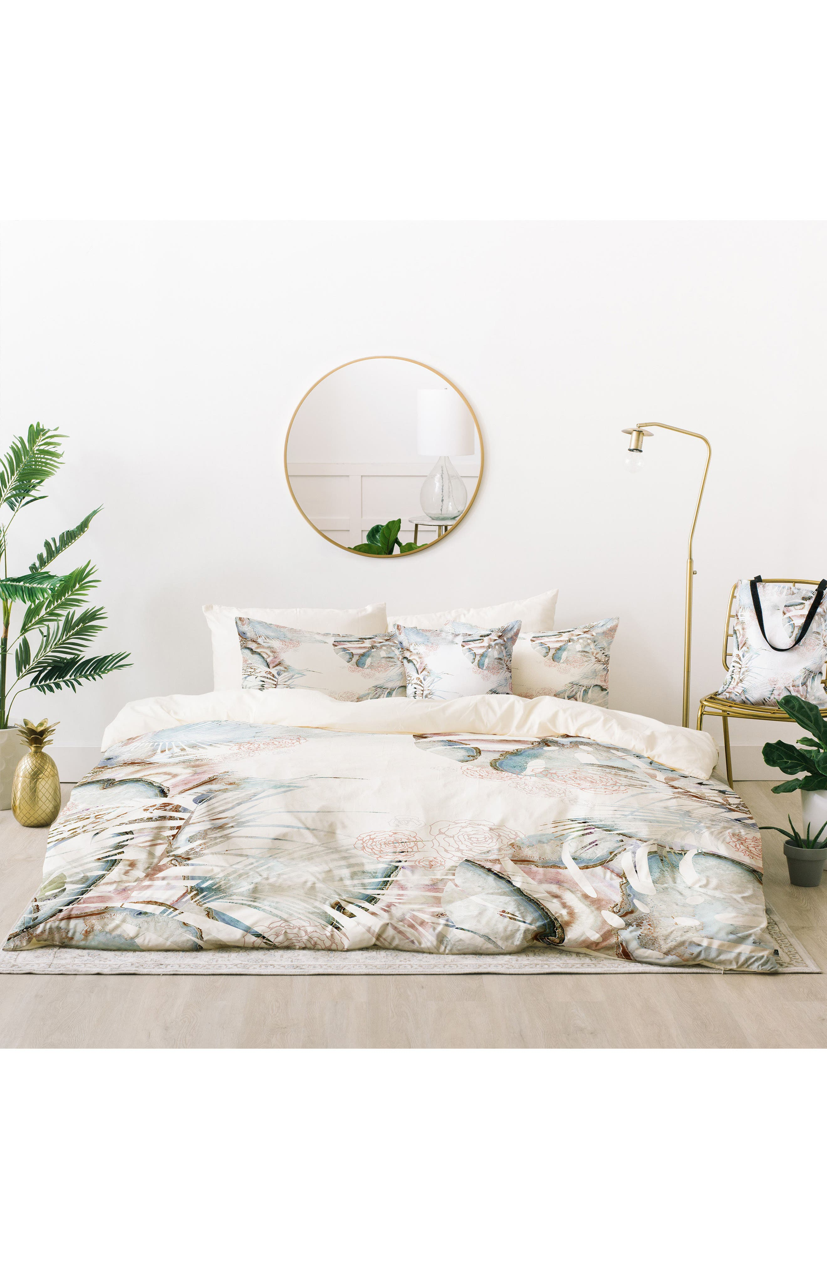 Iveta Abolina Honey It's Nap Time Bed in a Bag Duvet Cover, Sham & Accent Pillow Set,                         Main,                         color, Blue Multi