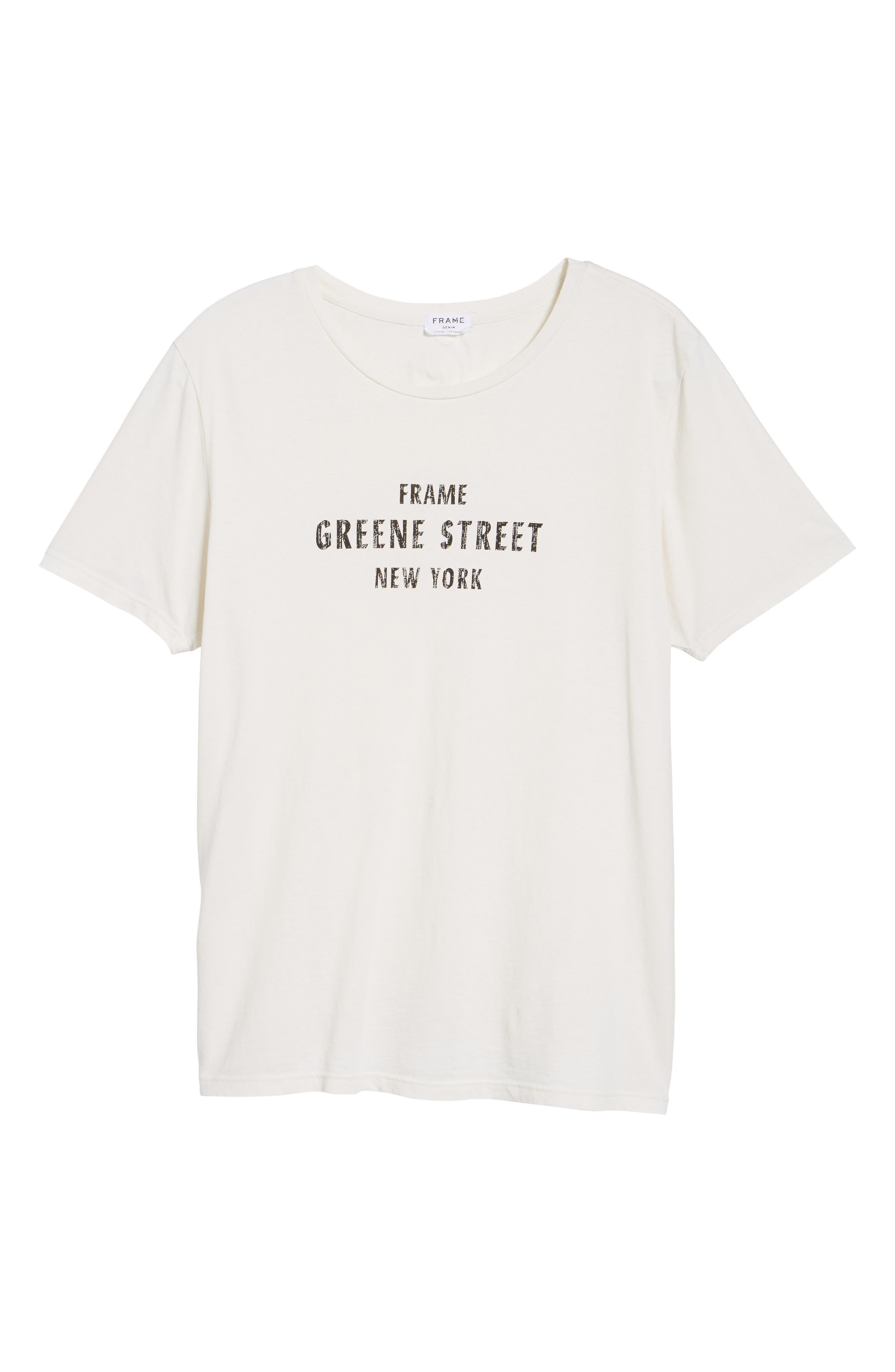 Greene Street Vintage Graphic T-Shirt,                             Alternate thumbnail 6, color,                             Off White