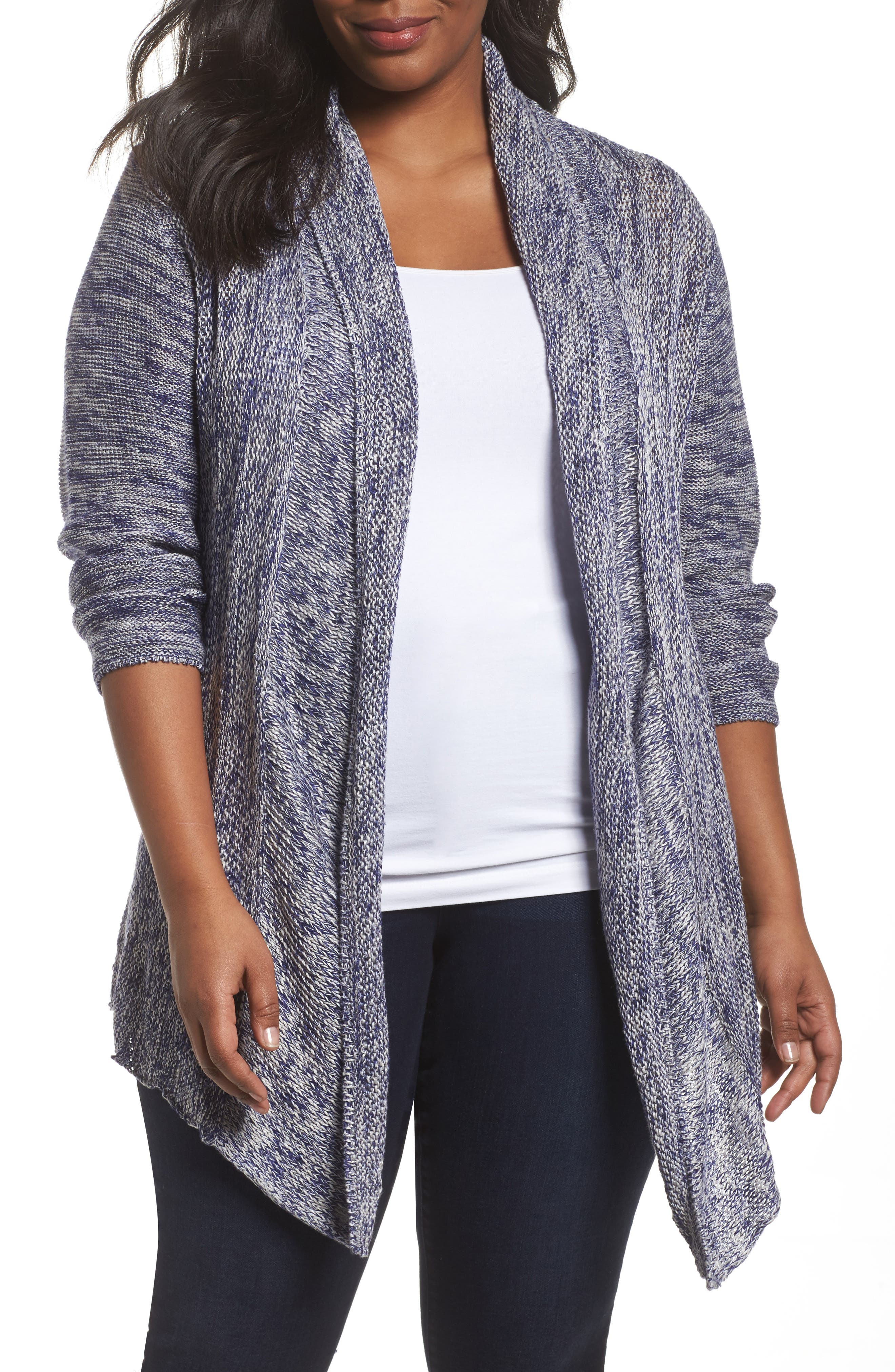Weather Mix Cardigan,                             Main thumbnail 1, color,                             Multi