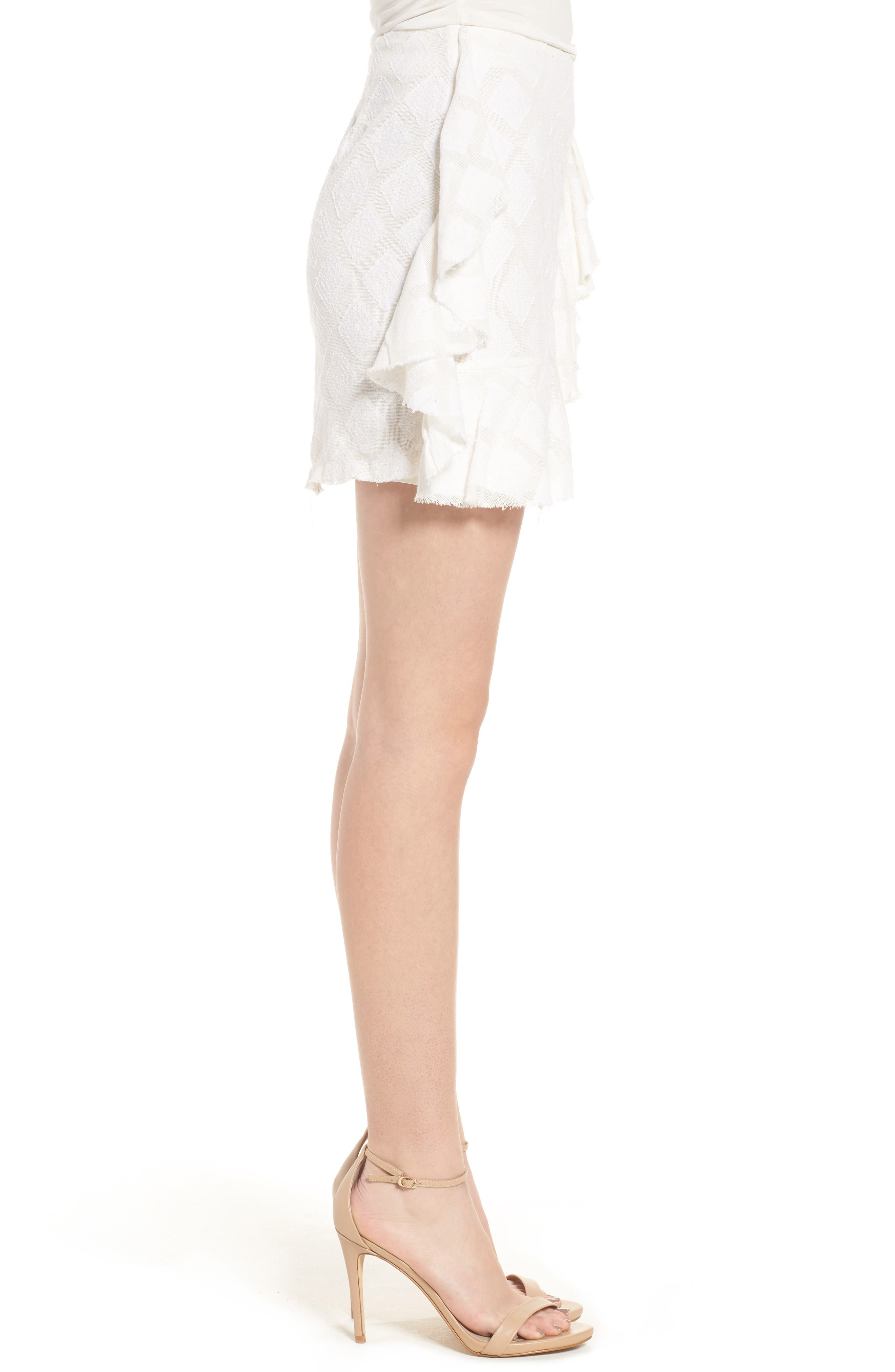 Hannah Ruffle Skirt,                             Alternate thumbnail 3, color,                             Ivory