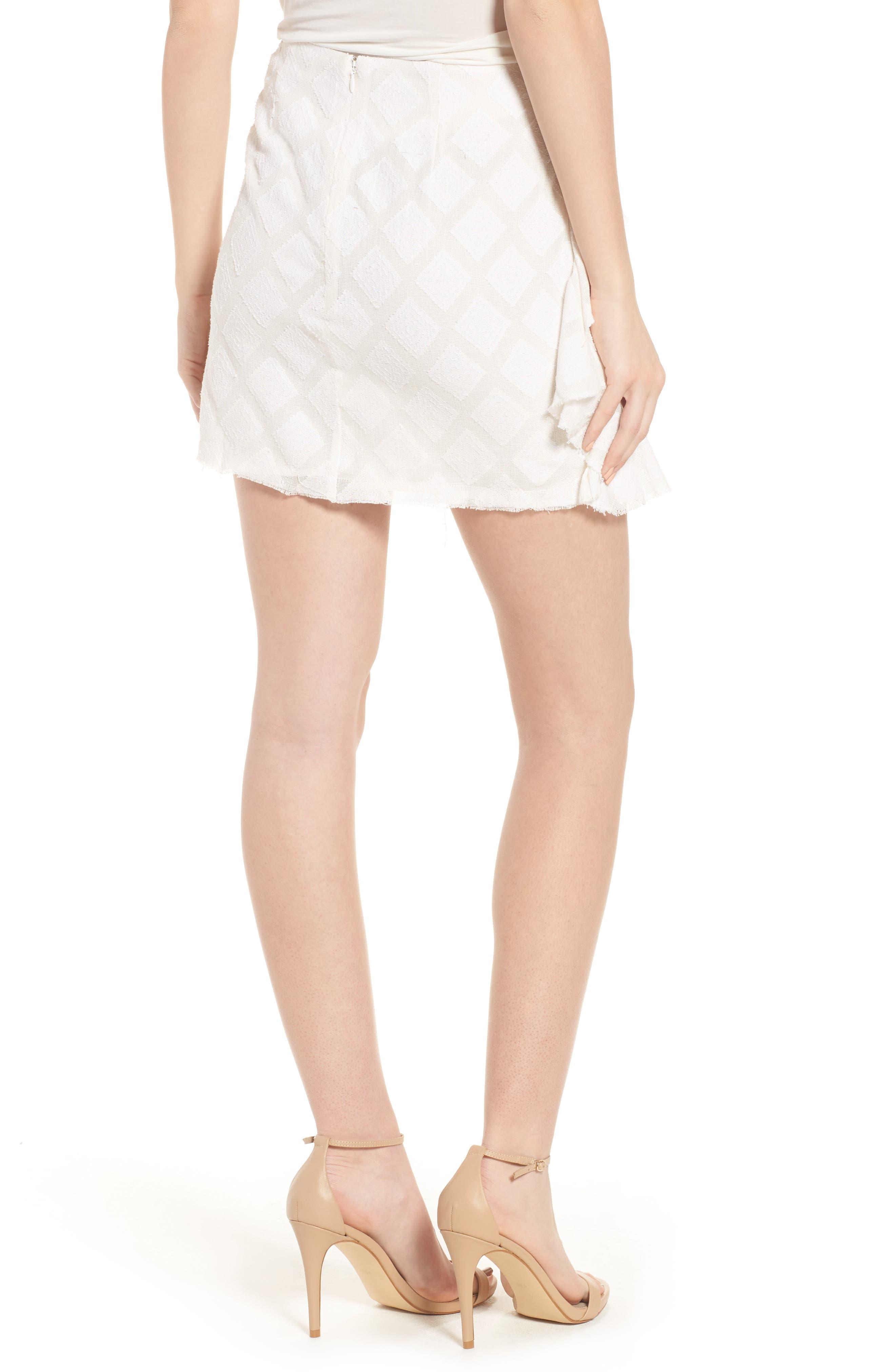 Hannah Ruffle Skirt,                             Alternate thumbnail 2, color,                             Ivory