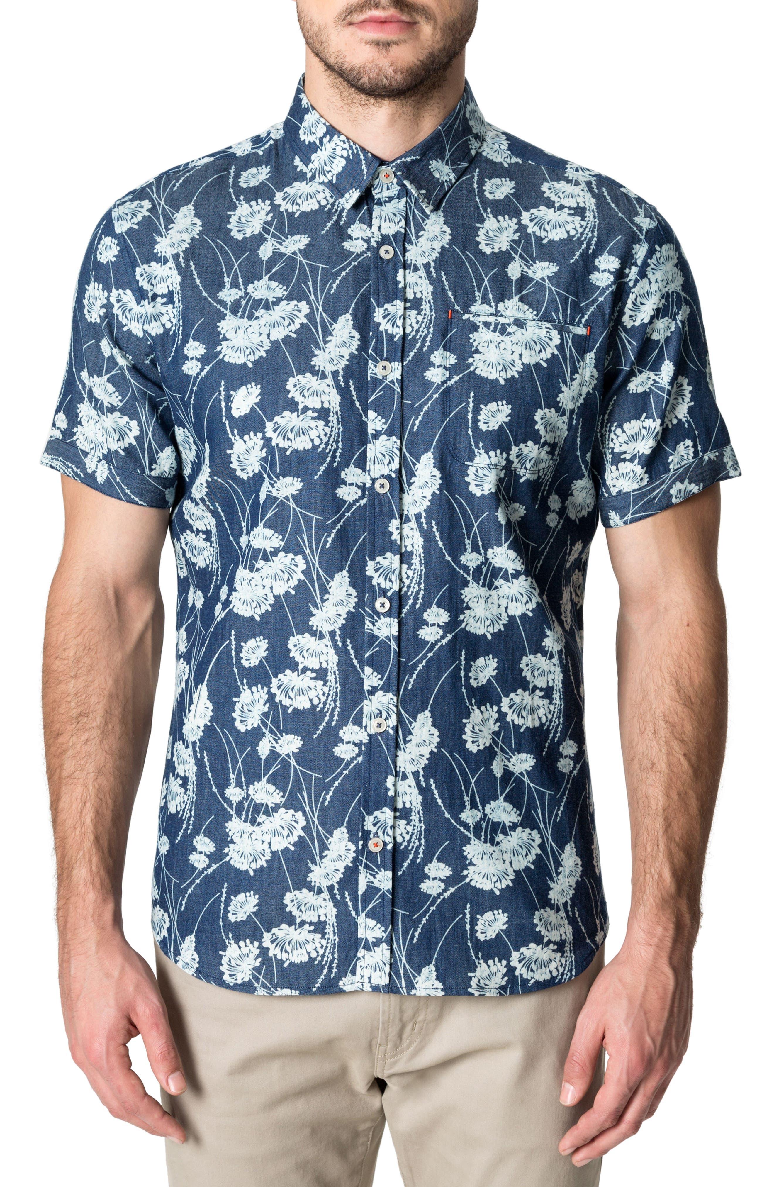 Twist of Faith Woven Shirt,                         Main,                         color, Blue
