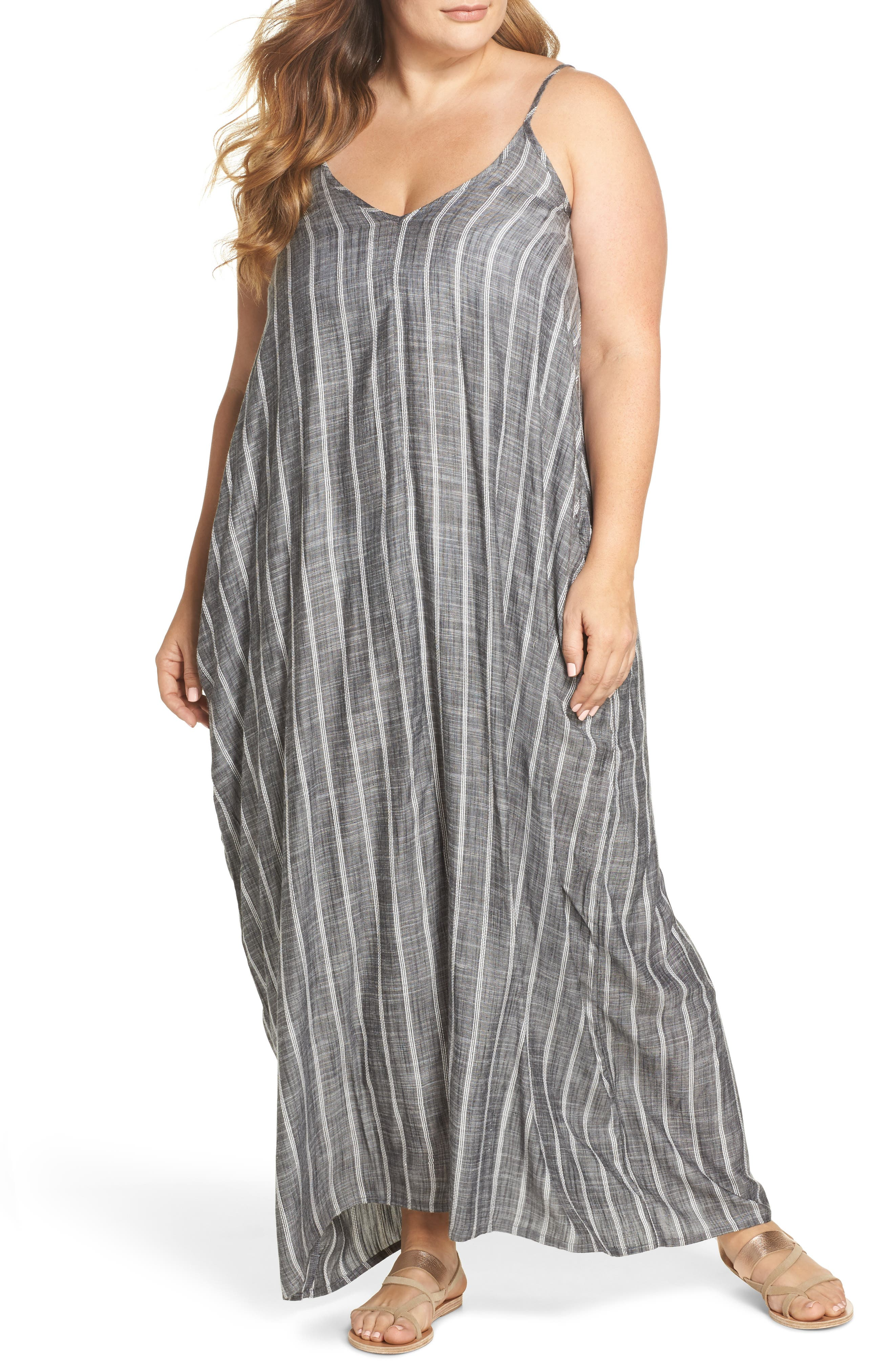 Cover-Up Maxi Dress,                         Main,                         color, Grey