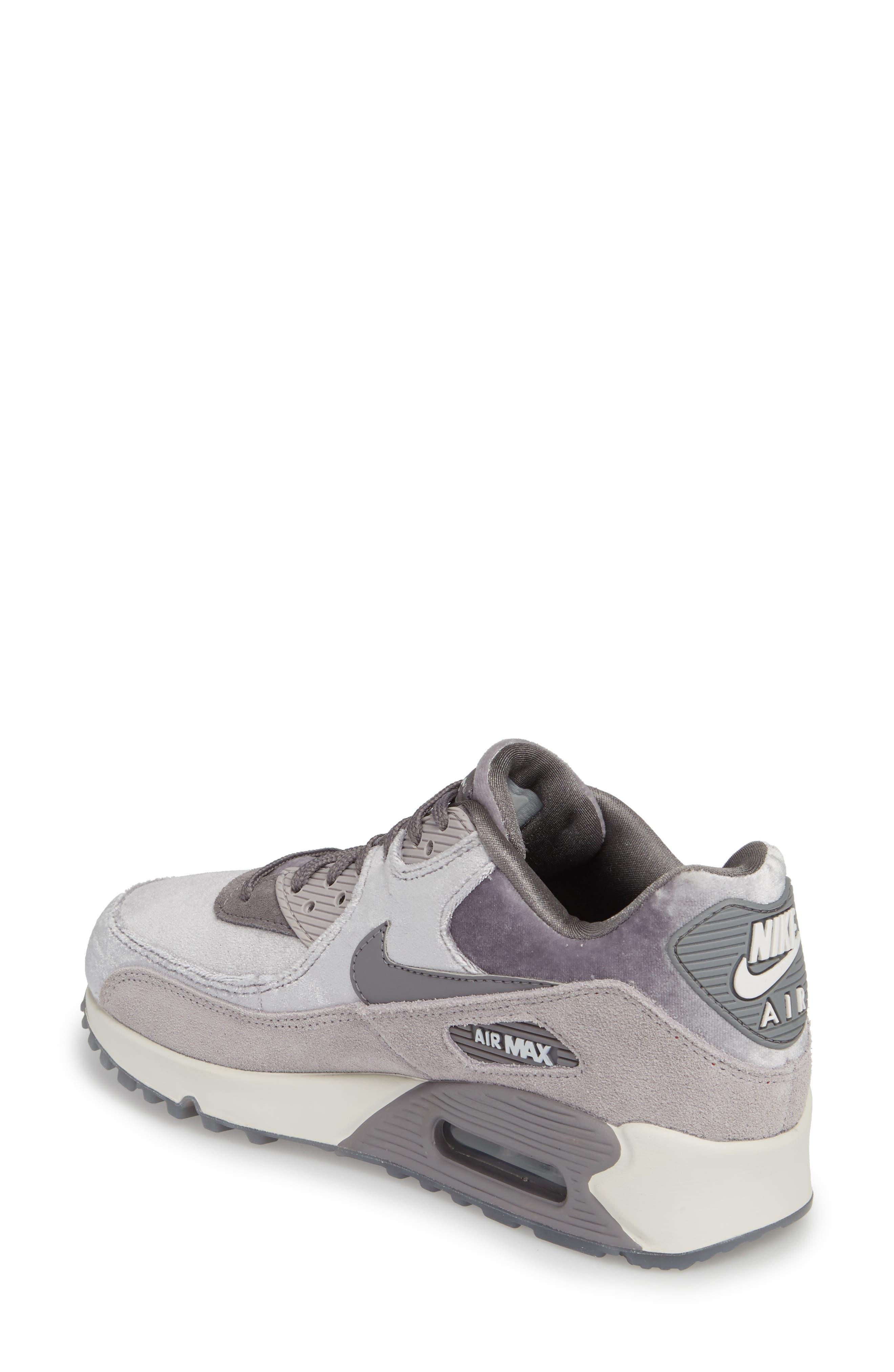 Air Max 90 LX Sneaker,                             Alternate thumbnail 2, color,                             Smoke/ Smoke