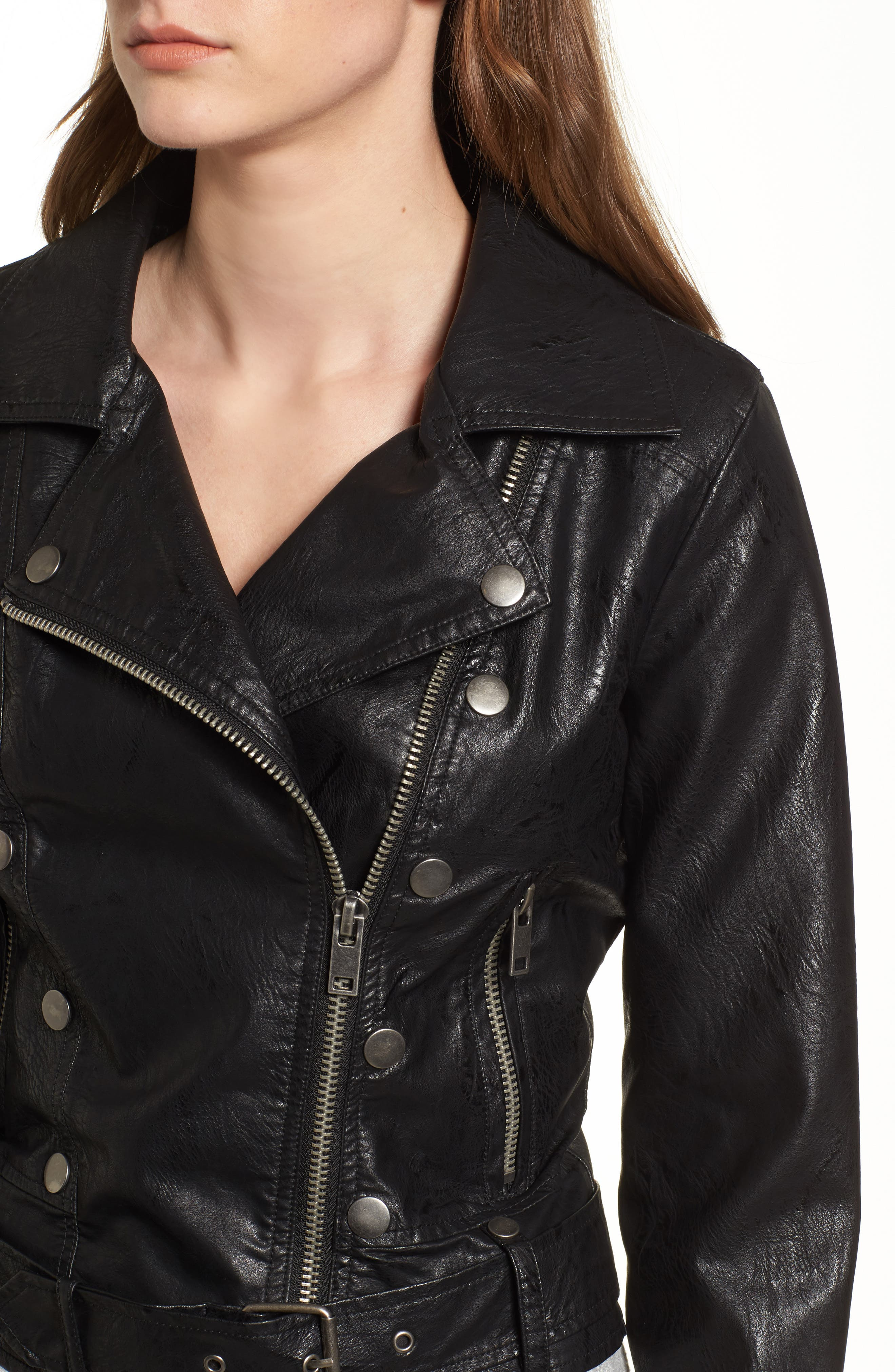 Alternate Image 4  - Maralyn & Me Textured Faux Leather Jacket