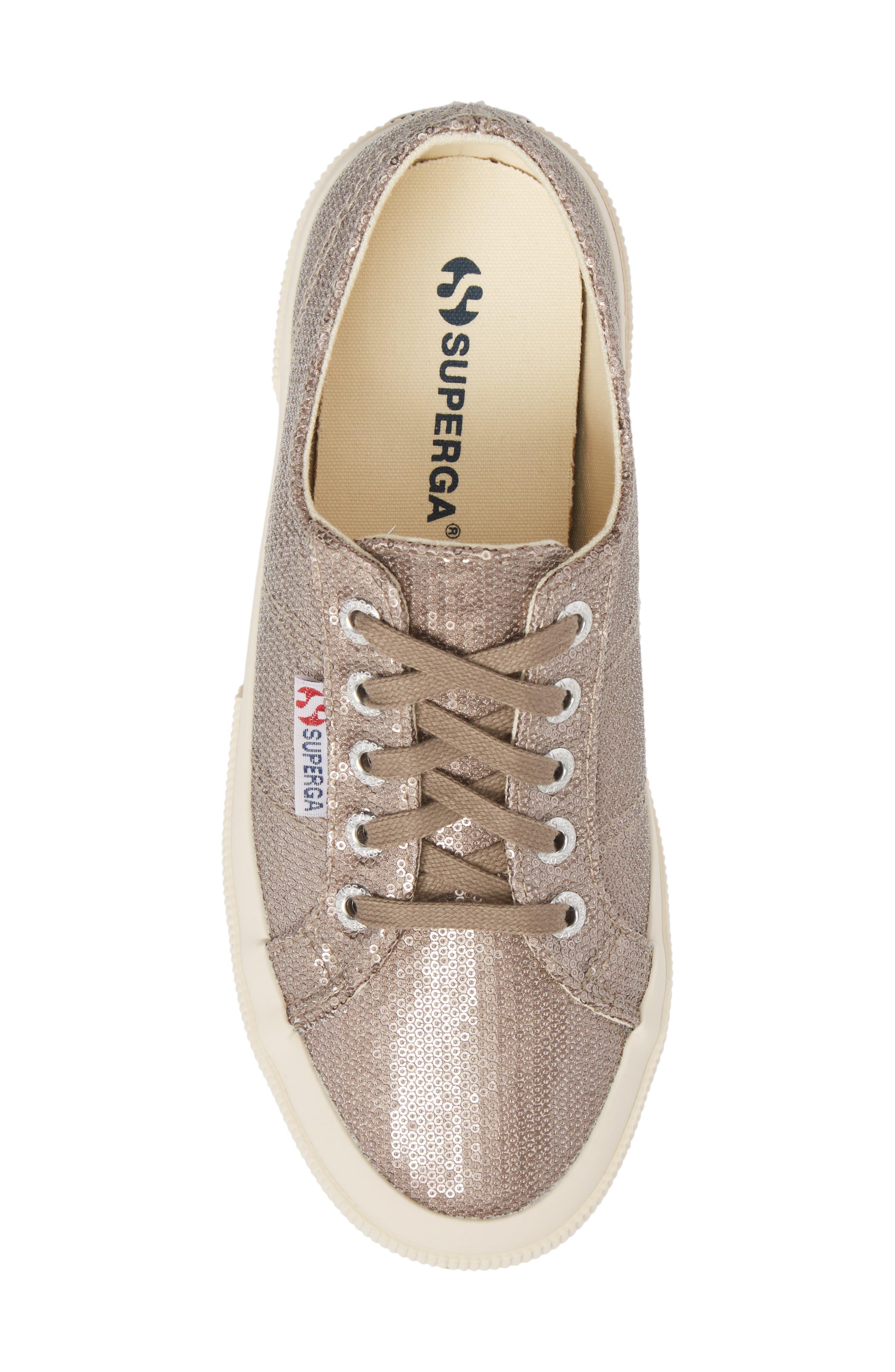 2750 Micro Sequin Sneaker,                             Alternate thumbnail 5, color,                             Bronze