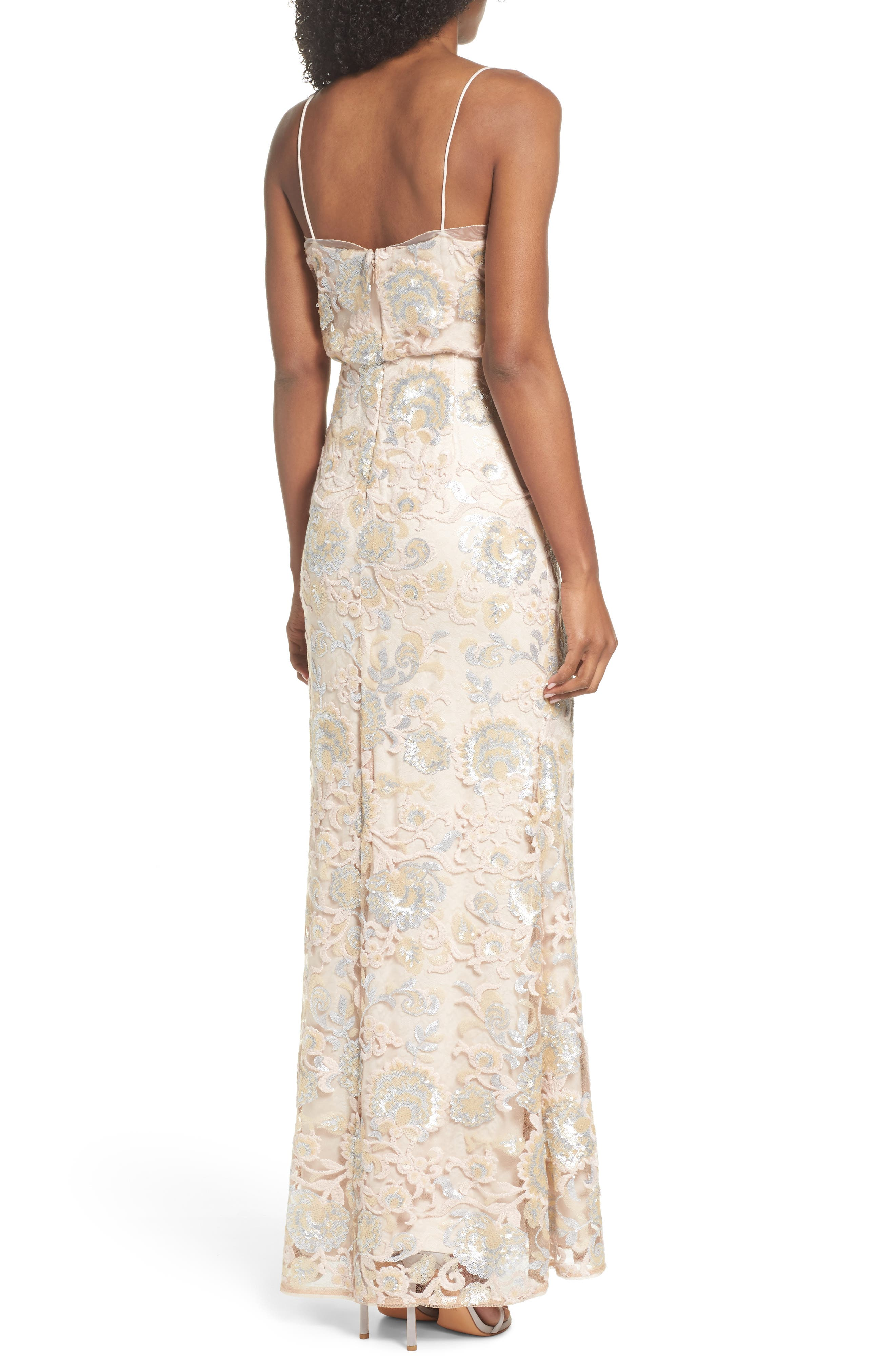 Alternate Image 2  - Adrianna Papell Sequin Embellished Blouson Gown