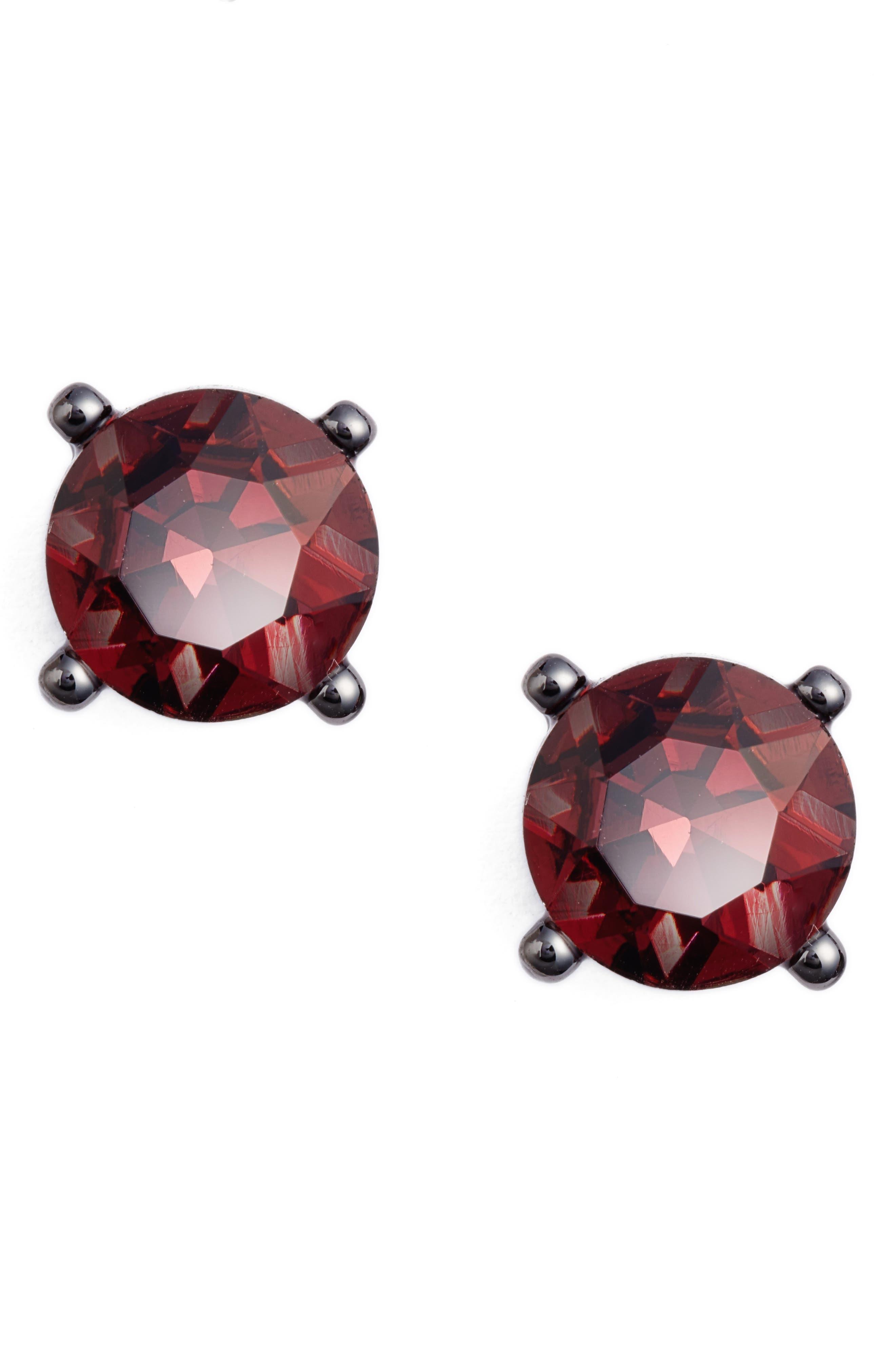 Jewel Stud Earrings,                         Main,                         color, Hematite