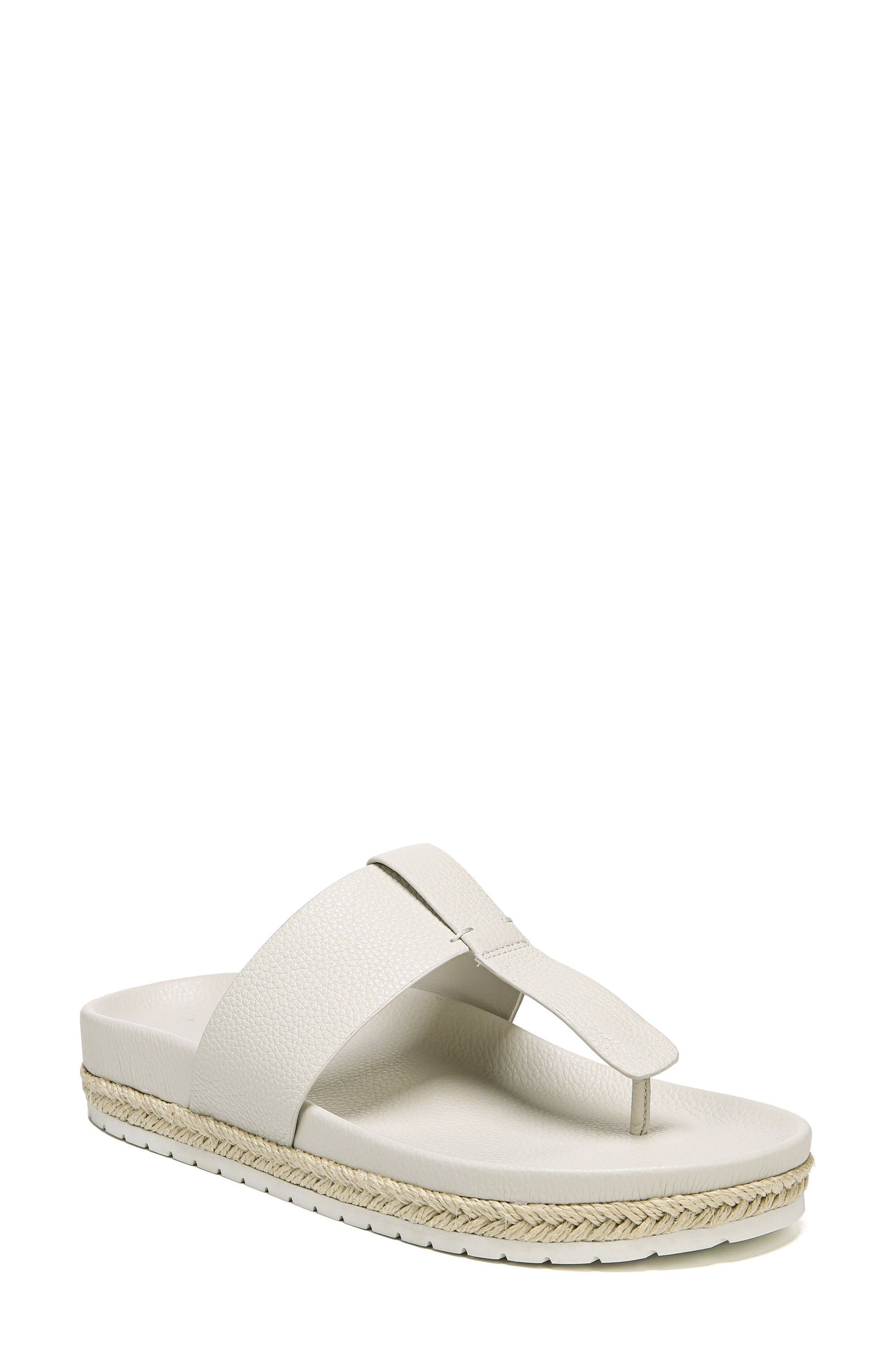 Avani T-Strap Flat Sandal,                             Main thumbnail 1, color,                             Oyster