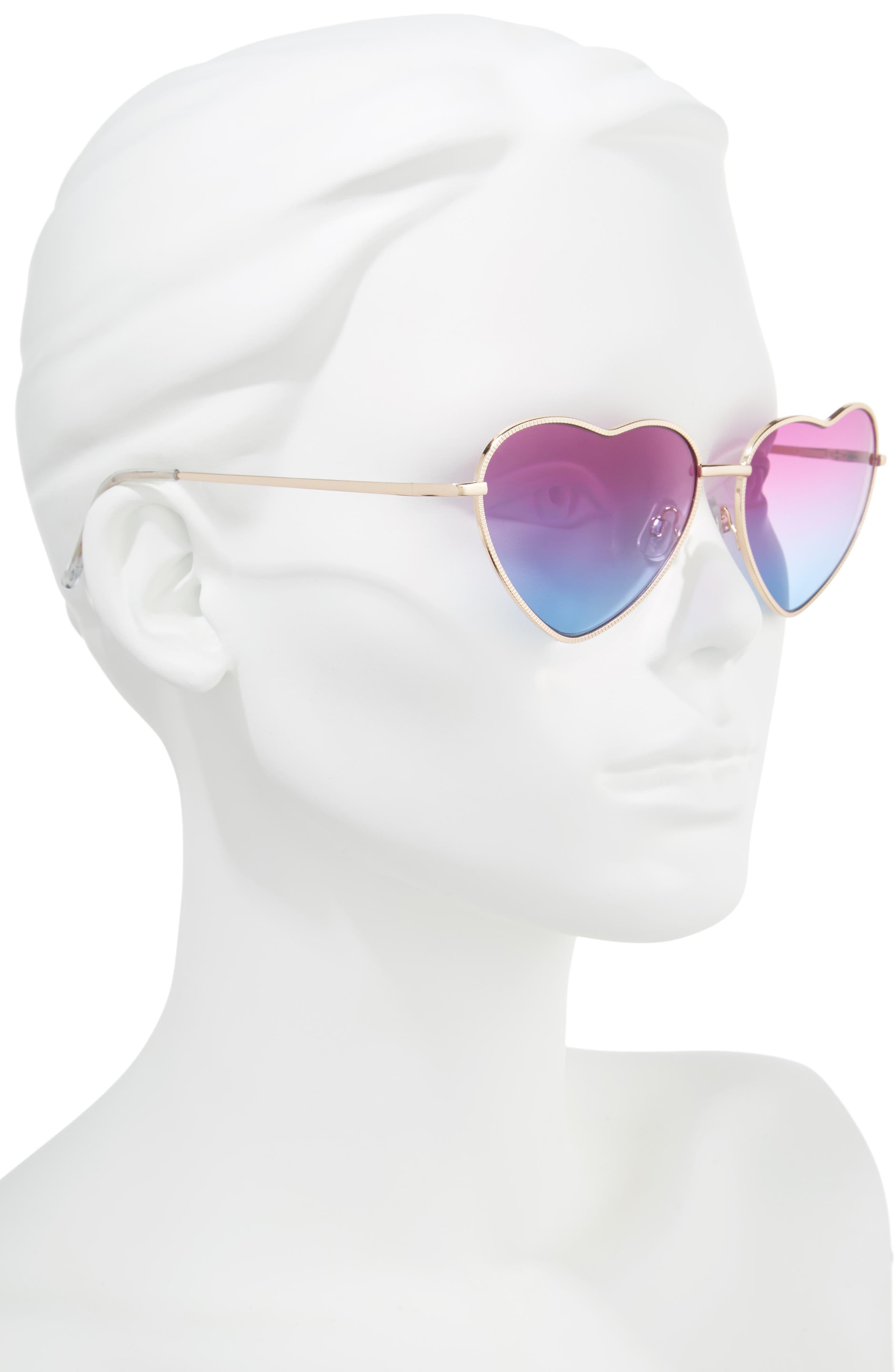 Alternate Image 2  - BP. Heart Shaped 58mm Sunglasses