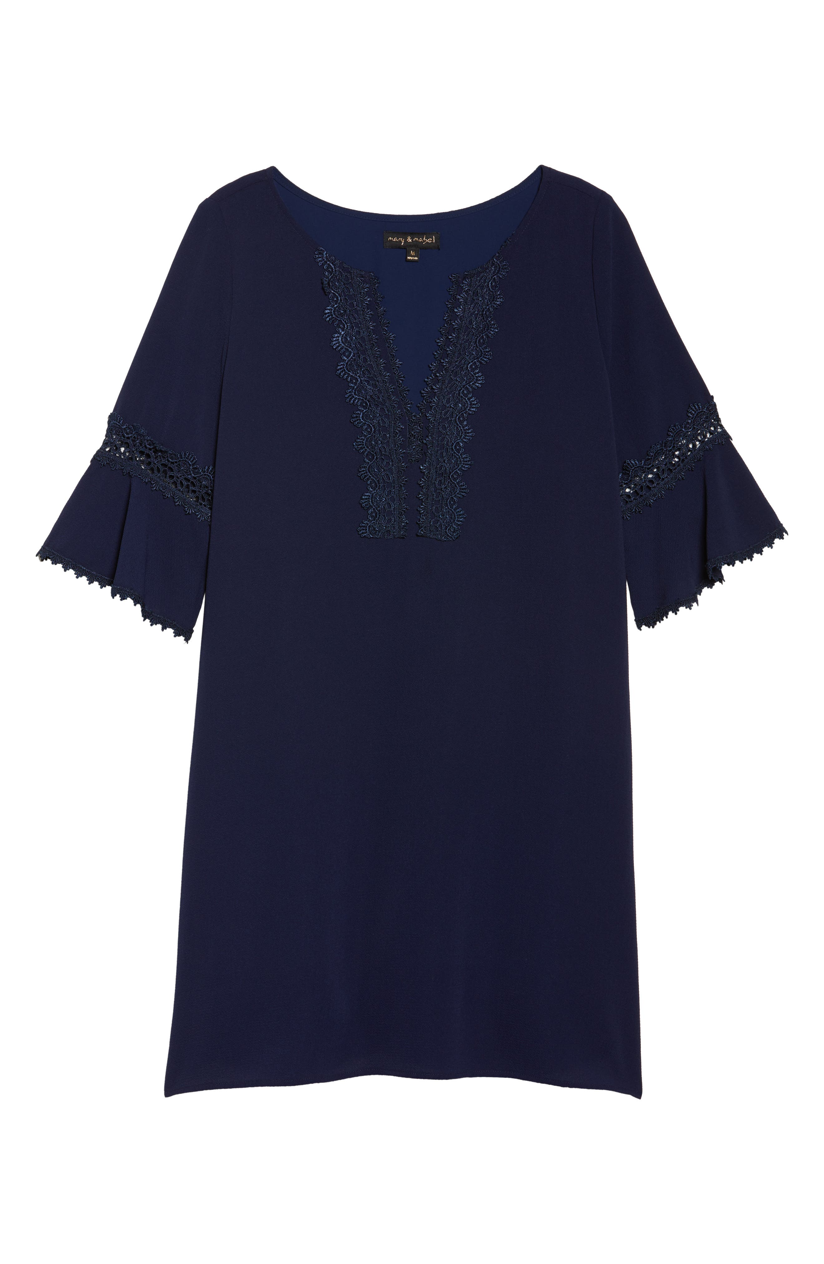 Alternate Image 6  - Mary & Mabel Bell Sleeve Shift Dress
