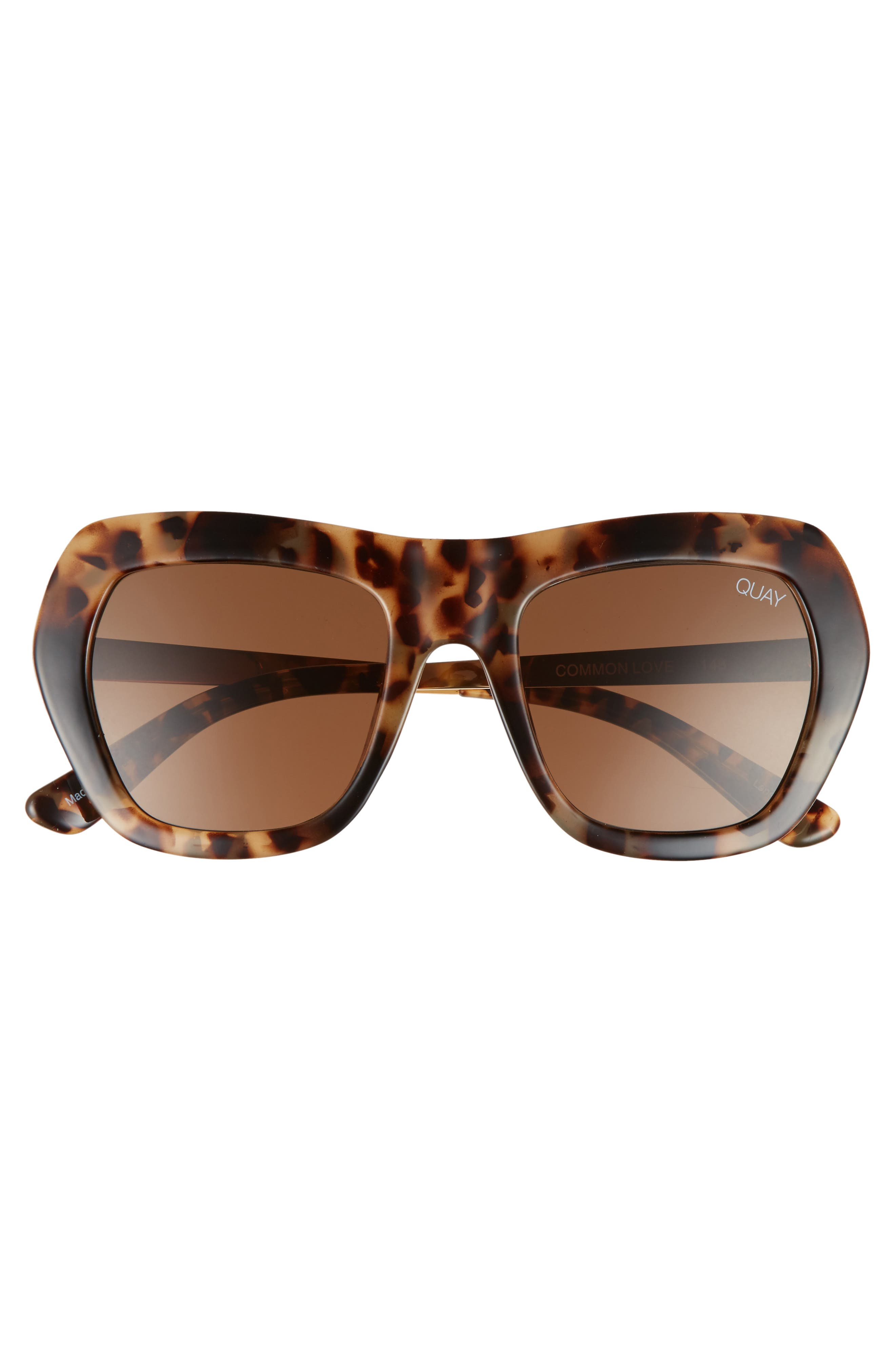 Common Love 53mm Square Sunglasses,                             Alternate thumbnail 7, color,                             Tort/ Brown
