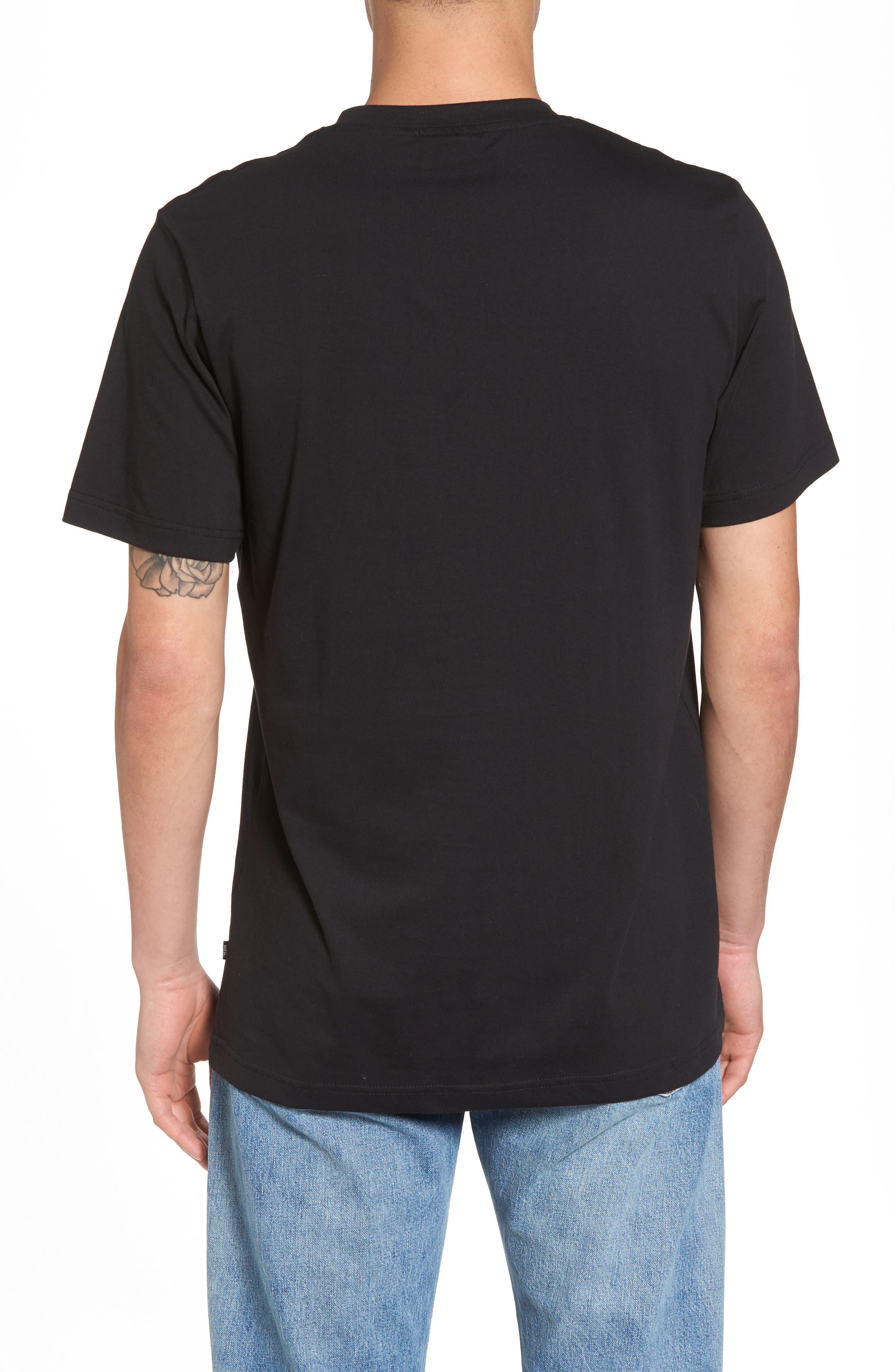 Overlay Logo Graphic T-Shirt,                             Alternate thumbnail 2, color,                             Black
