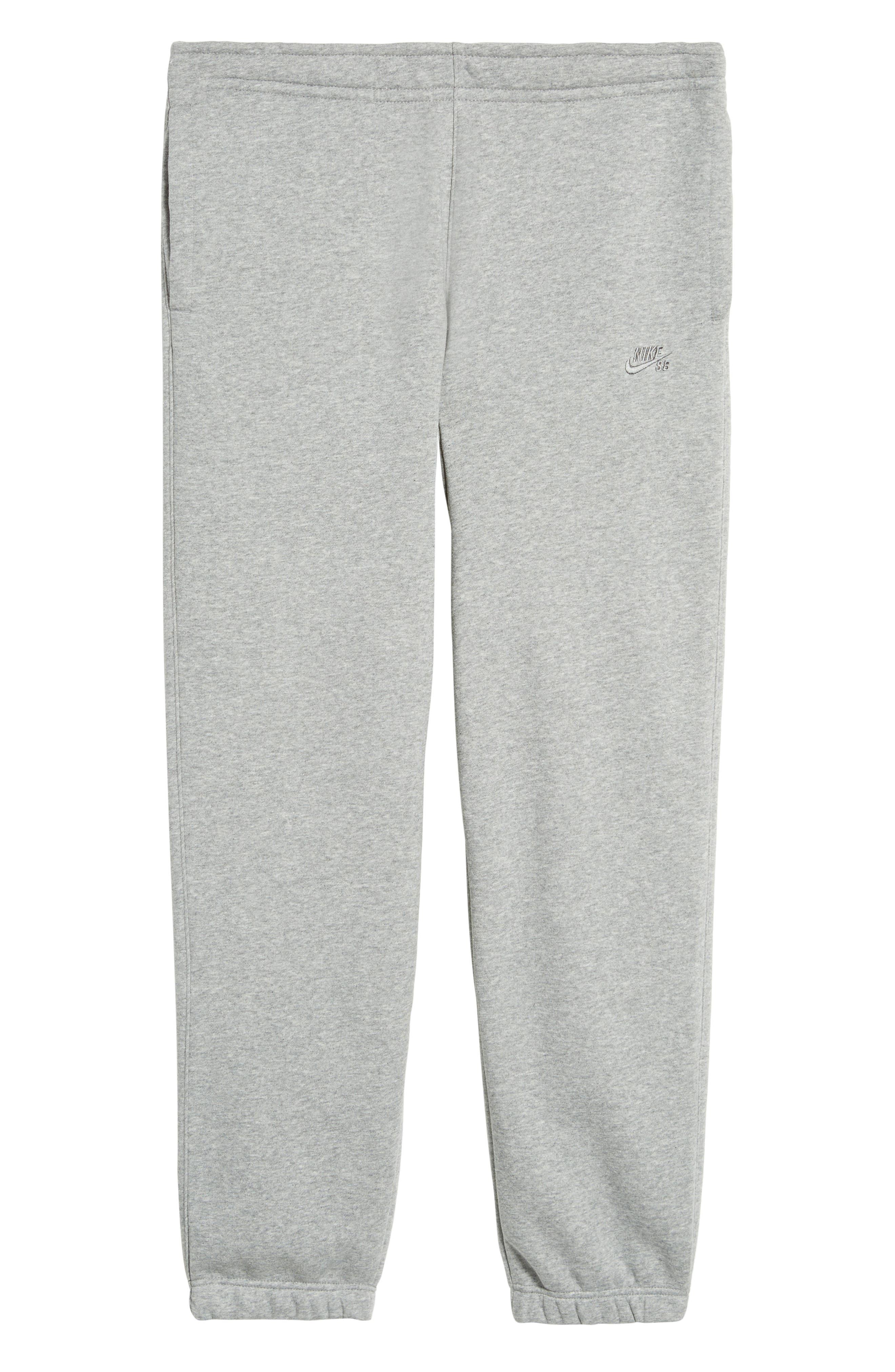 Icon Fleece Pants,                             Alternate thumbnail 6, color,                             Dark Steel Grey