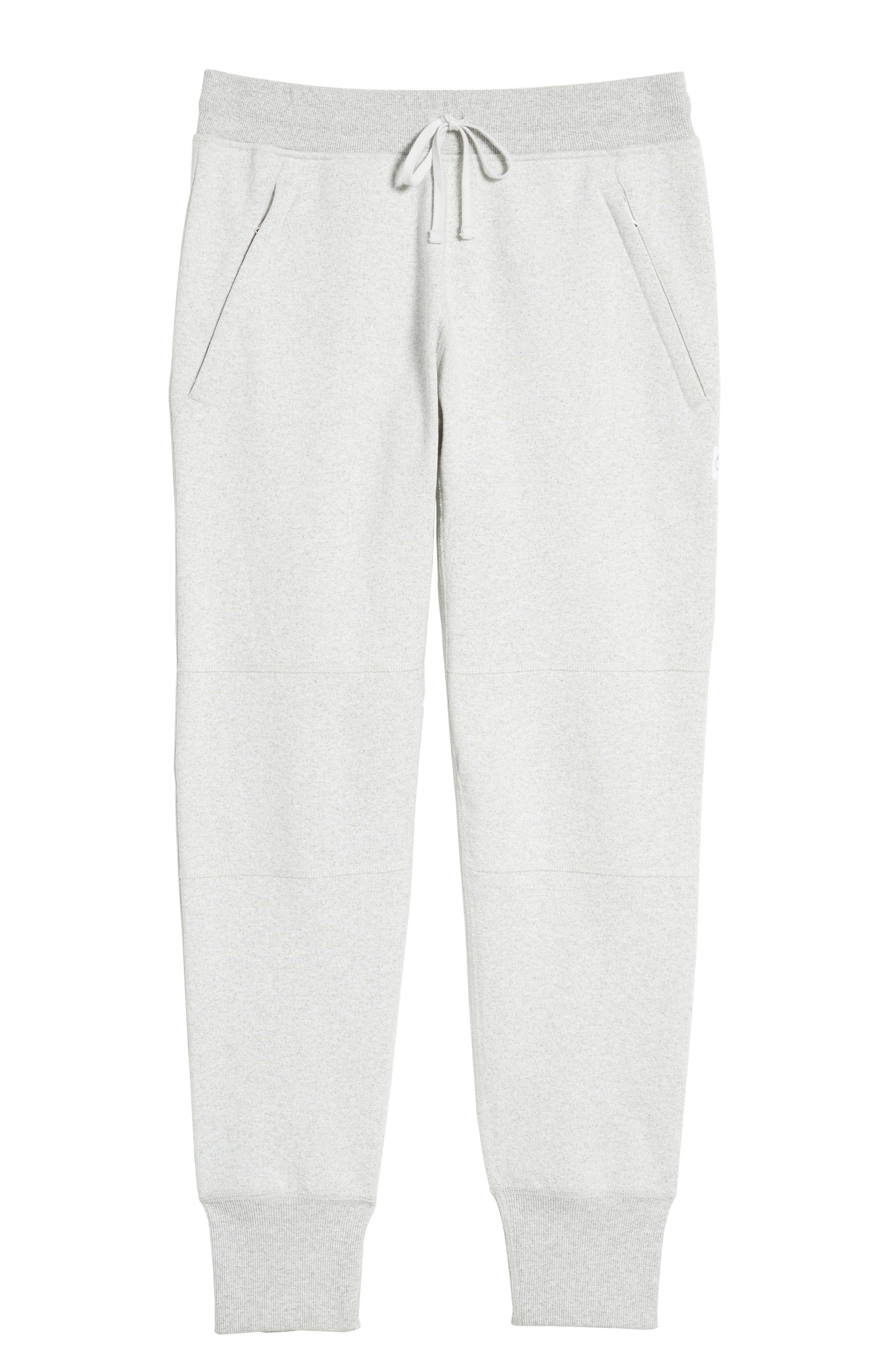 Slim Fit Heavyweight Sweatpants,                             Alternate thumbnail 6, color,                             Chalk