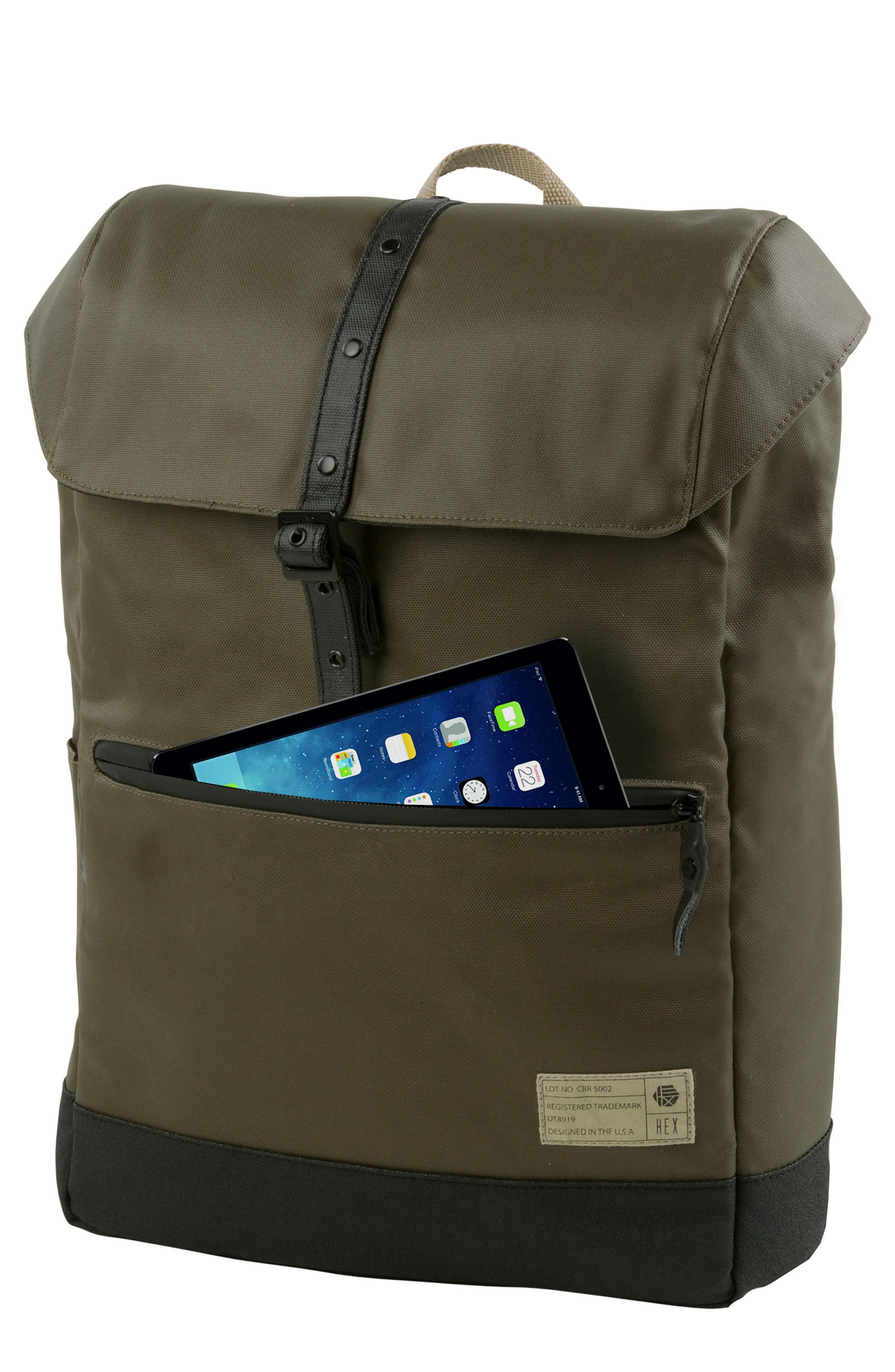 'Alliance' Water Resistant Backpack,                             Main thumbnail 1, color,                             Olive