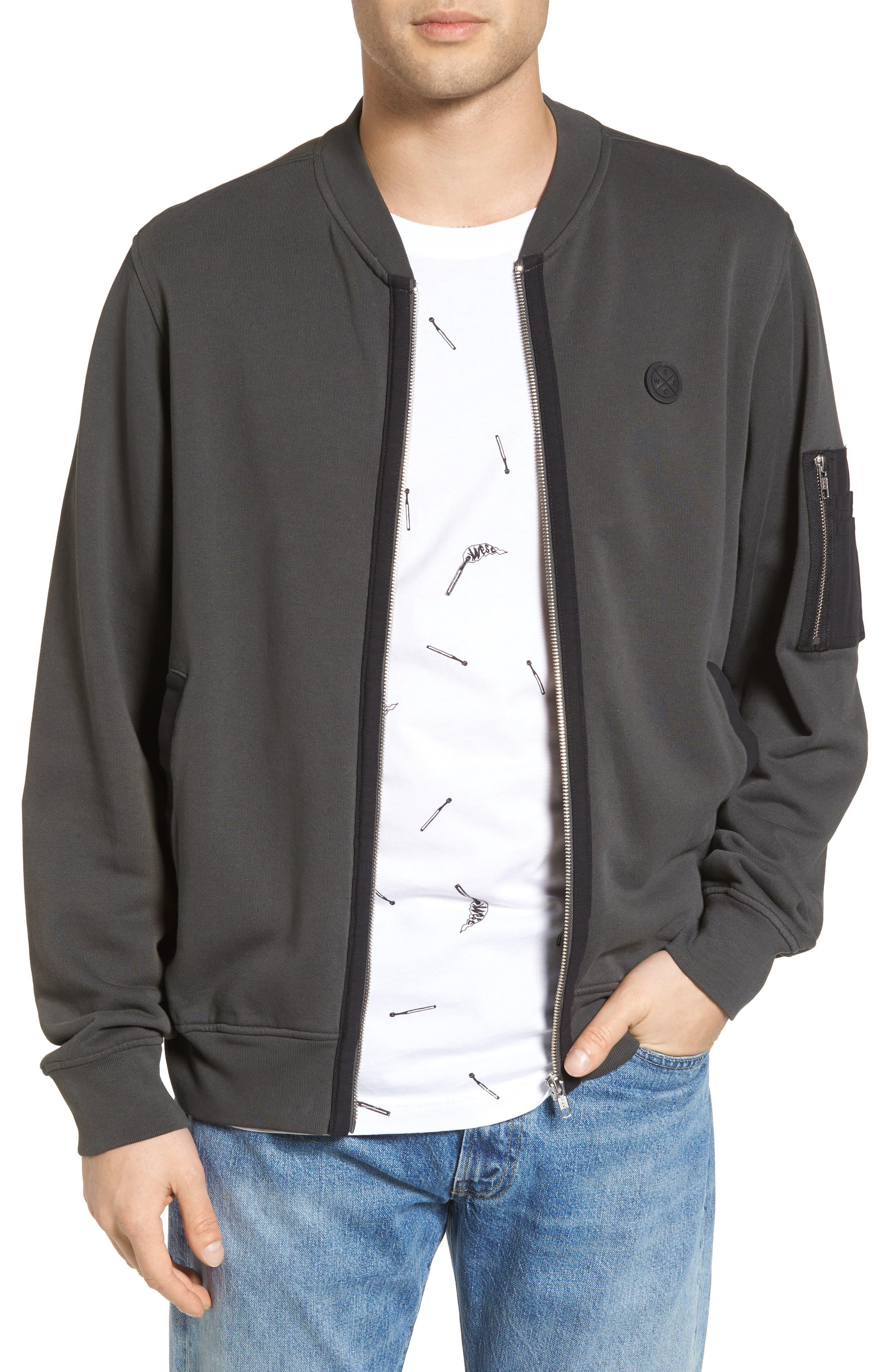 Tyler Fleece Jacket,                         Main,                         color, Pirate Black