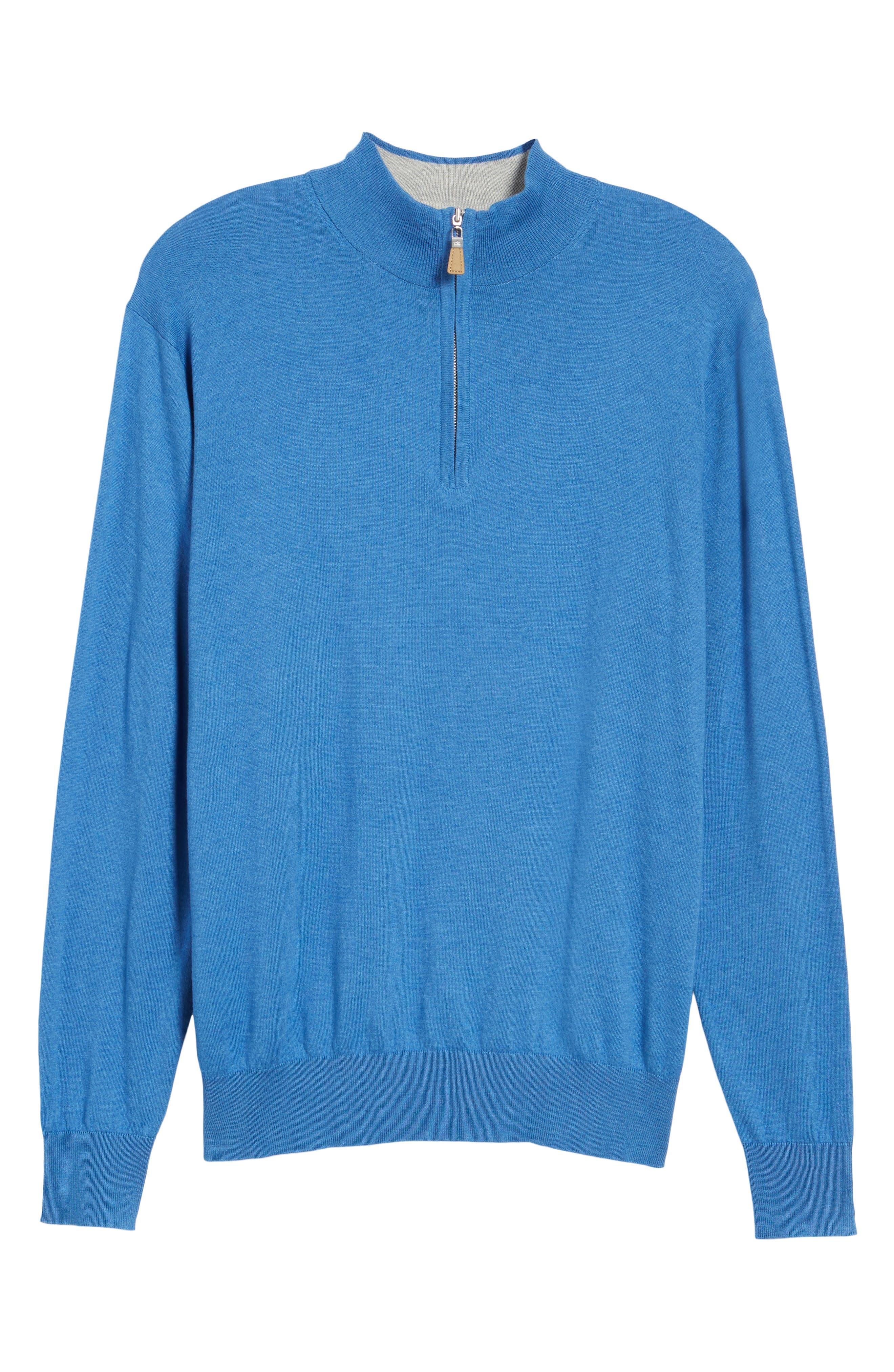 Crown Soft Quarter-Zip Pullover,                             Alternate thumbnail 6, color,                             Boardwalk Blue