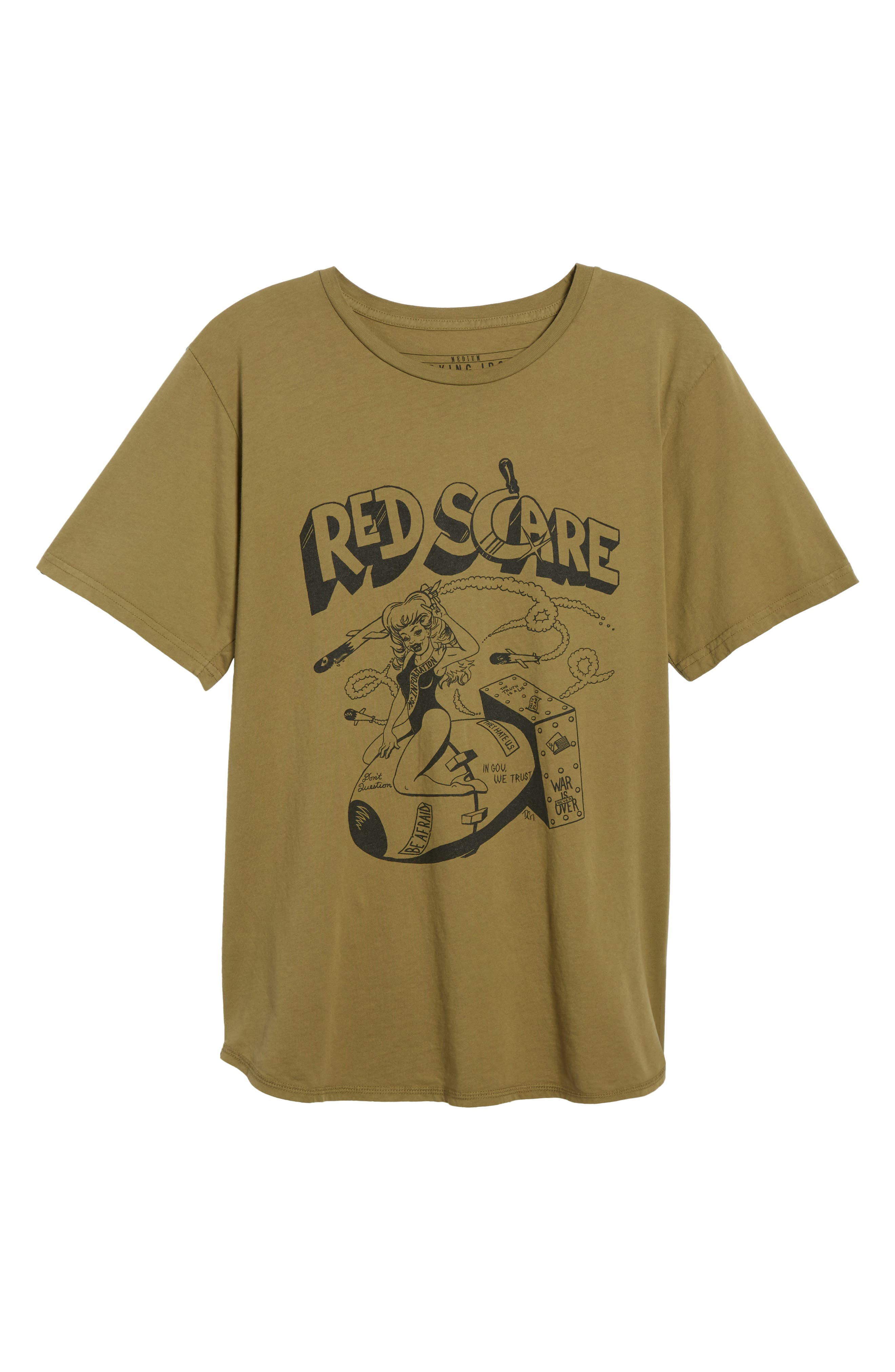 Red Scare Graphic T-Shirt,                             Alternate thumbnail 6, color,                             Infantry Green