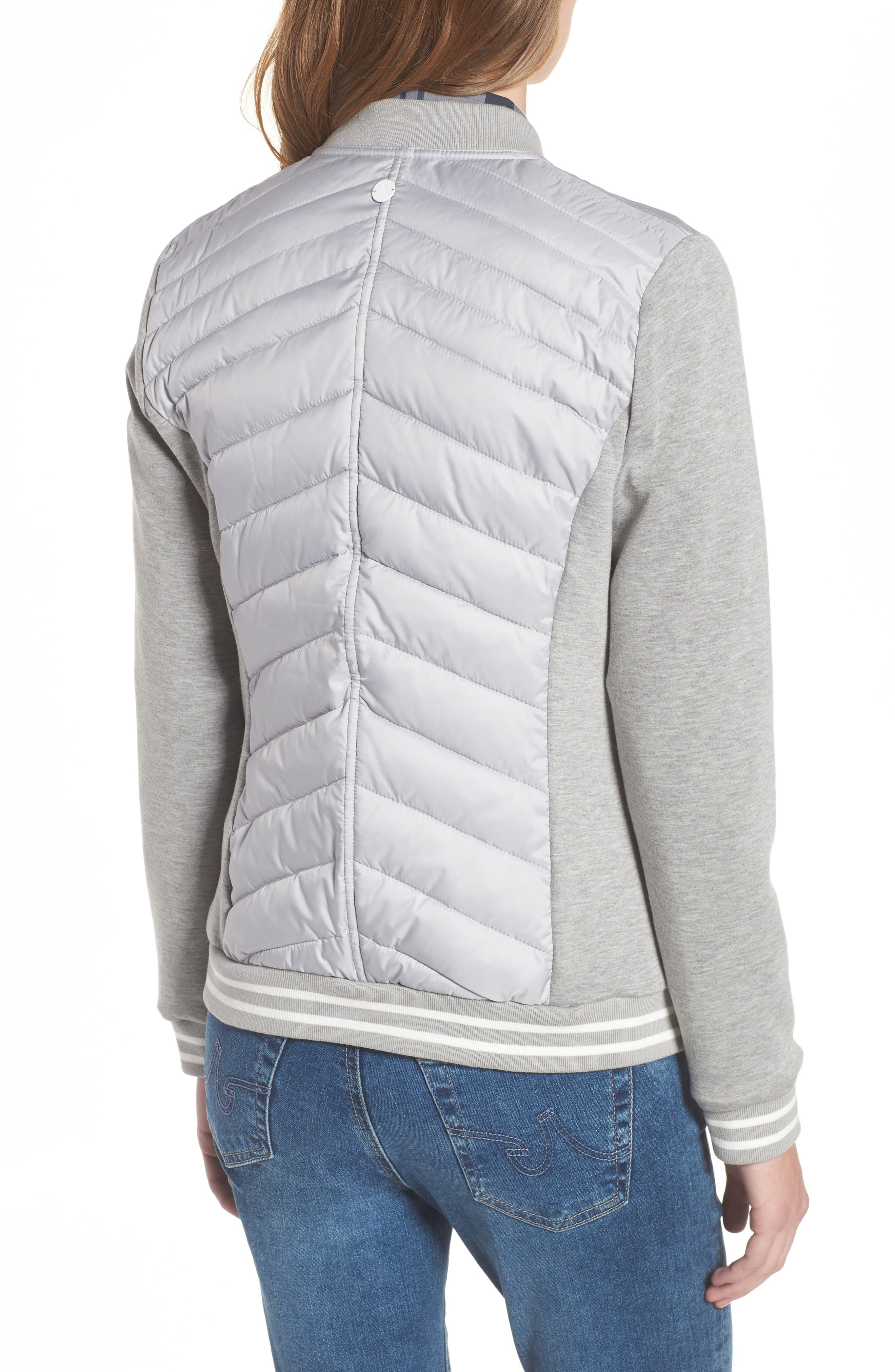 Pembrey Sweatshirt Jacket,                             Alternate thumbnail 2, color,                             Ice White