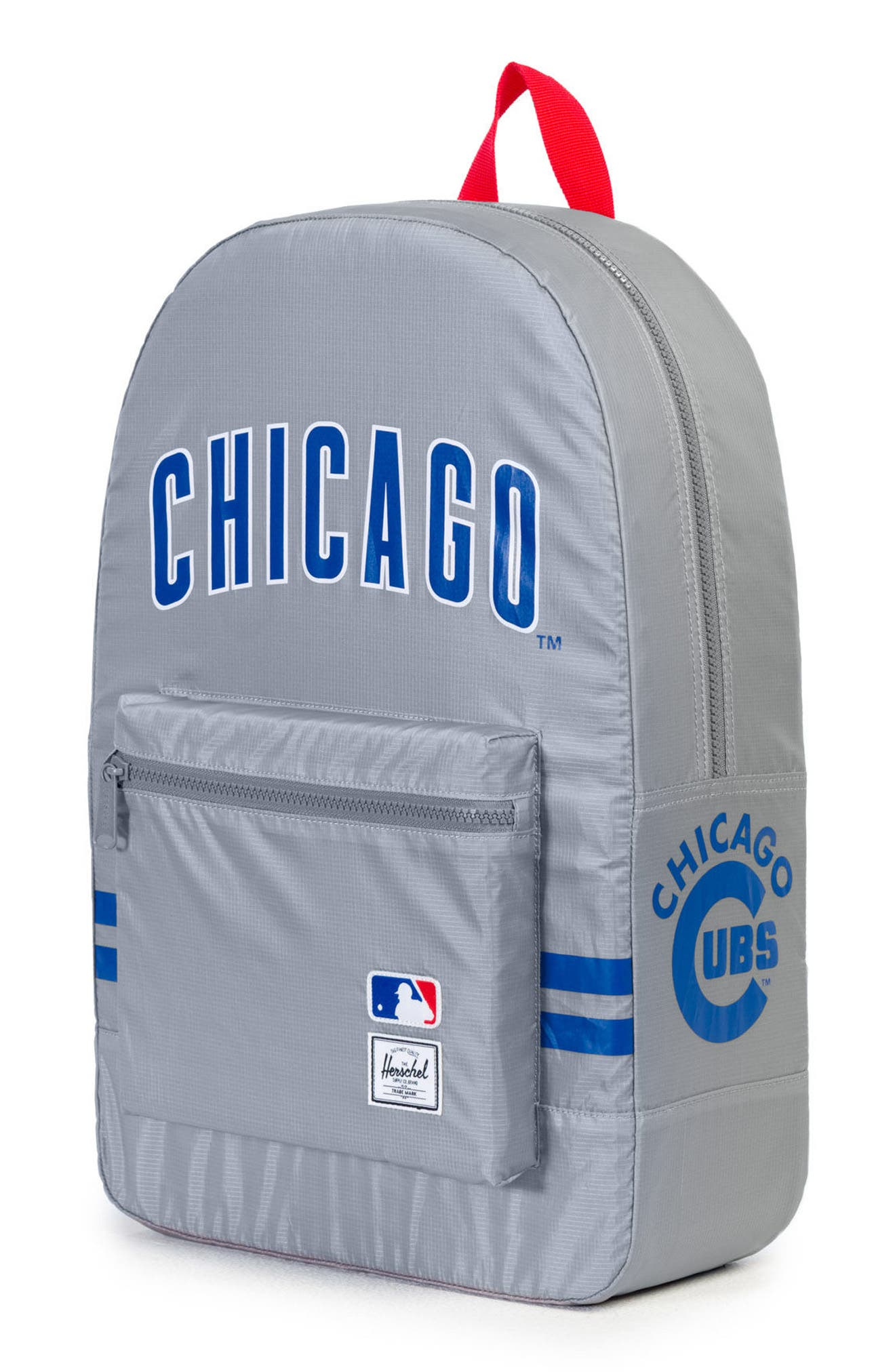 Packable - MLB National League Backpack,                             Alternate thumbnail 3, color,                             Chicago Cubs