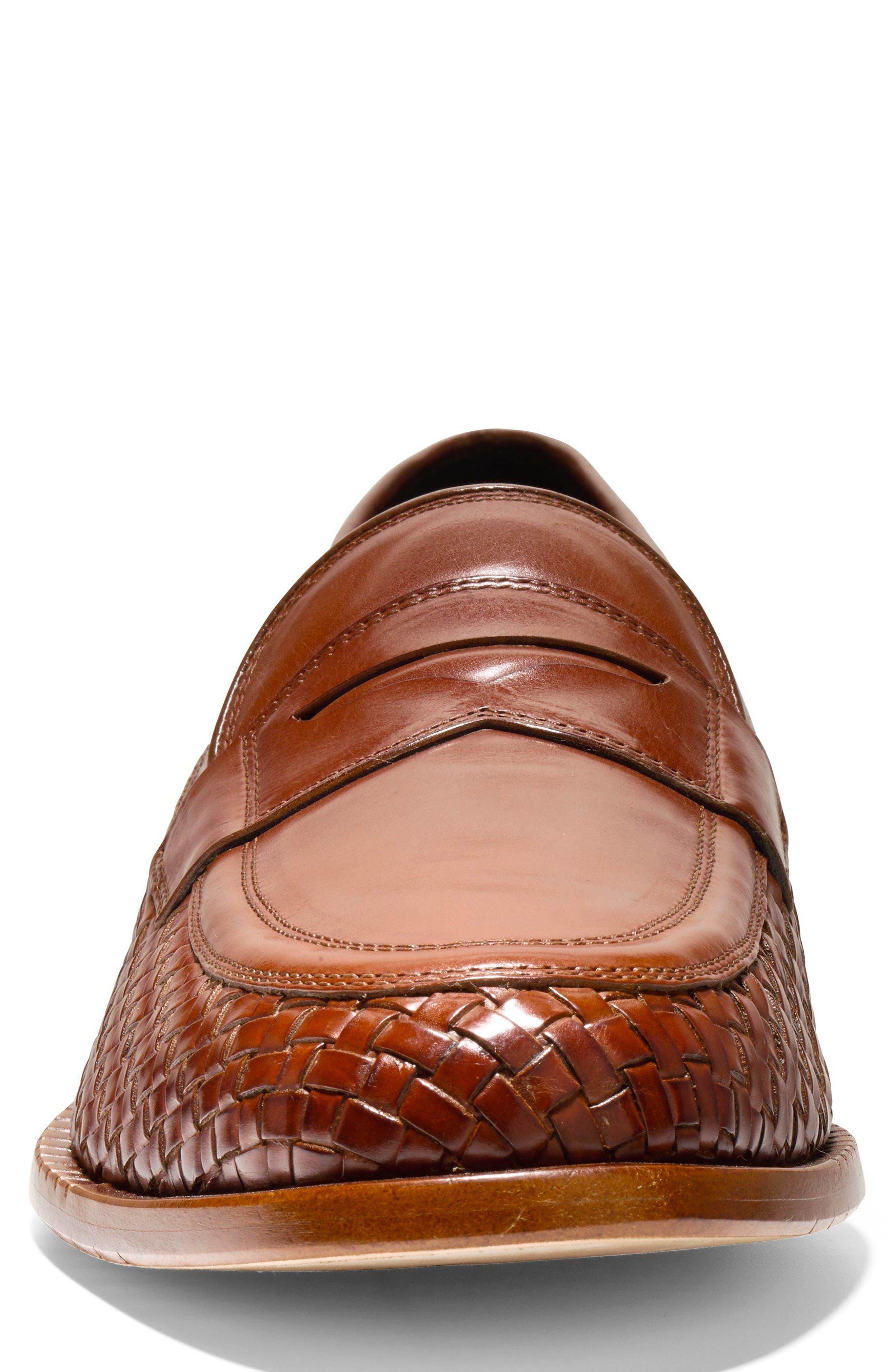 Washington Grand Penny Loafer,                             Alternate thumbnail 4, color,                             British Tan Woven