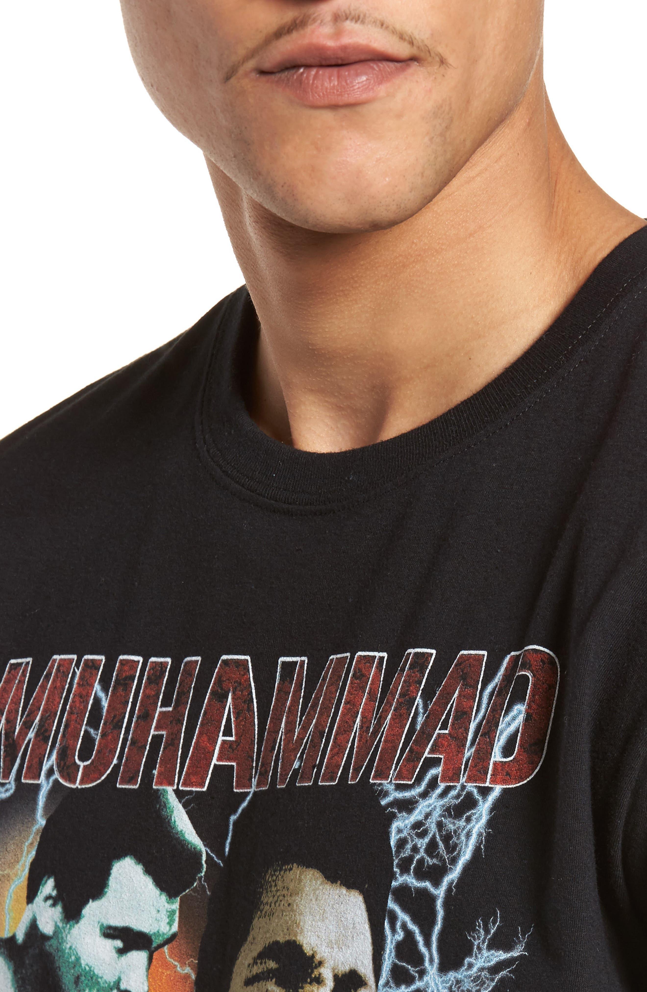 Muhammad Ali Graphic T-Shirt,                             Alternate thumbnail 4, color,                             Black Tee Muhammad Ali