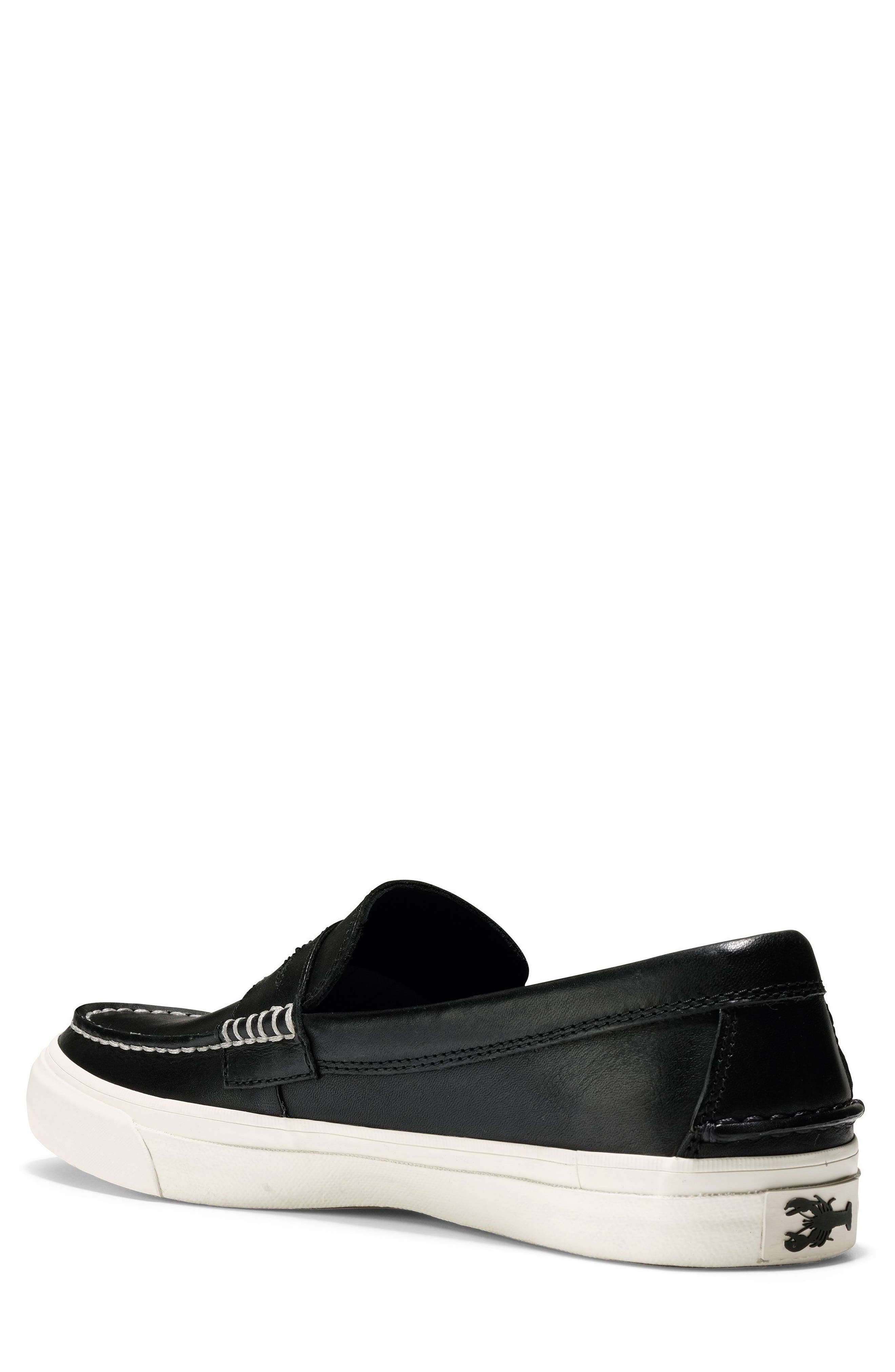 Pinch Weekend LX Penny Loafer,                             Alternate thumbnail 2, color,                             Black/ White