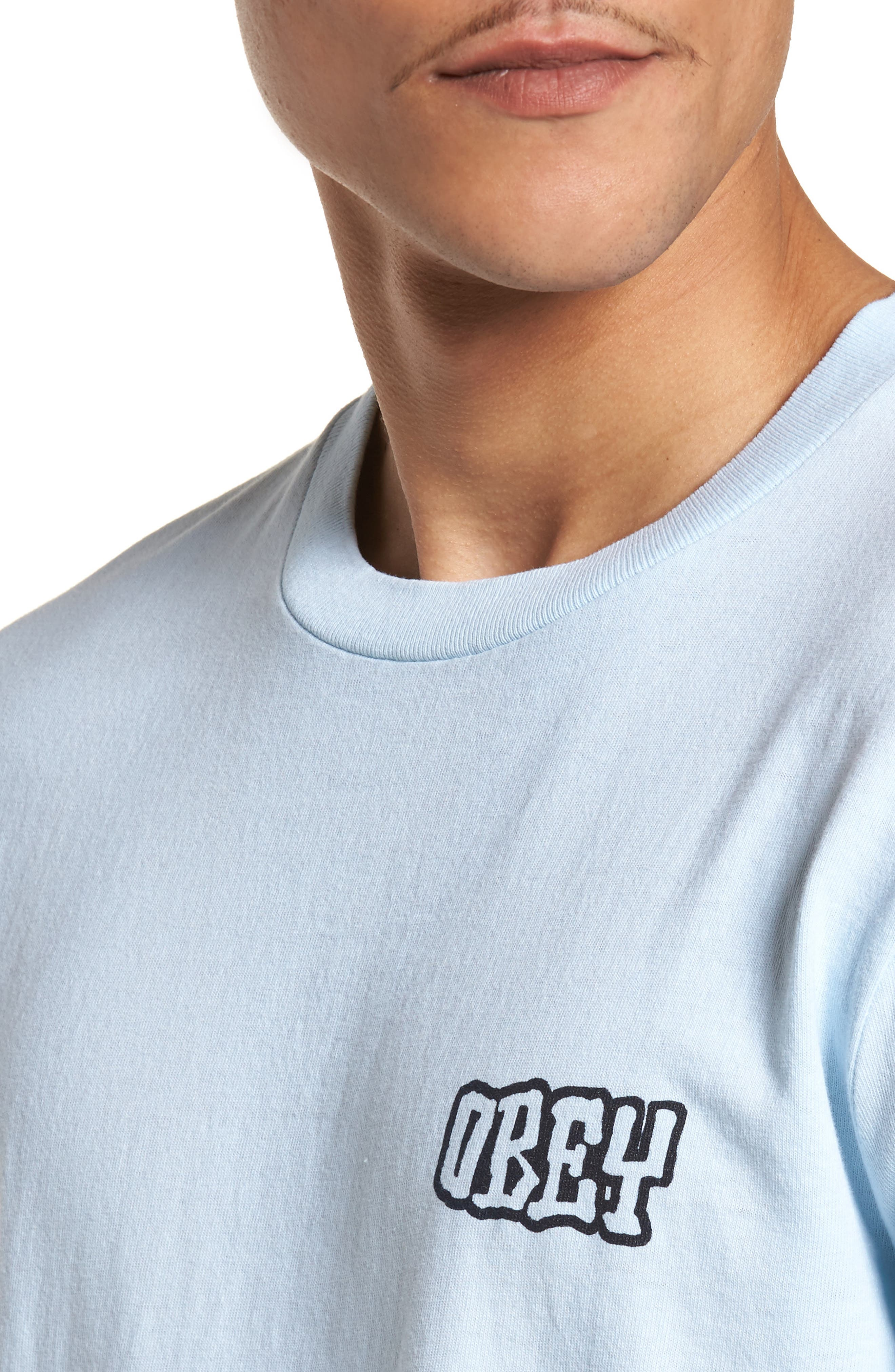 Unwritten Future Graphic T-Shirt,                             Alternate thumbnail 4, color,                             Dusty Blue