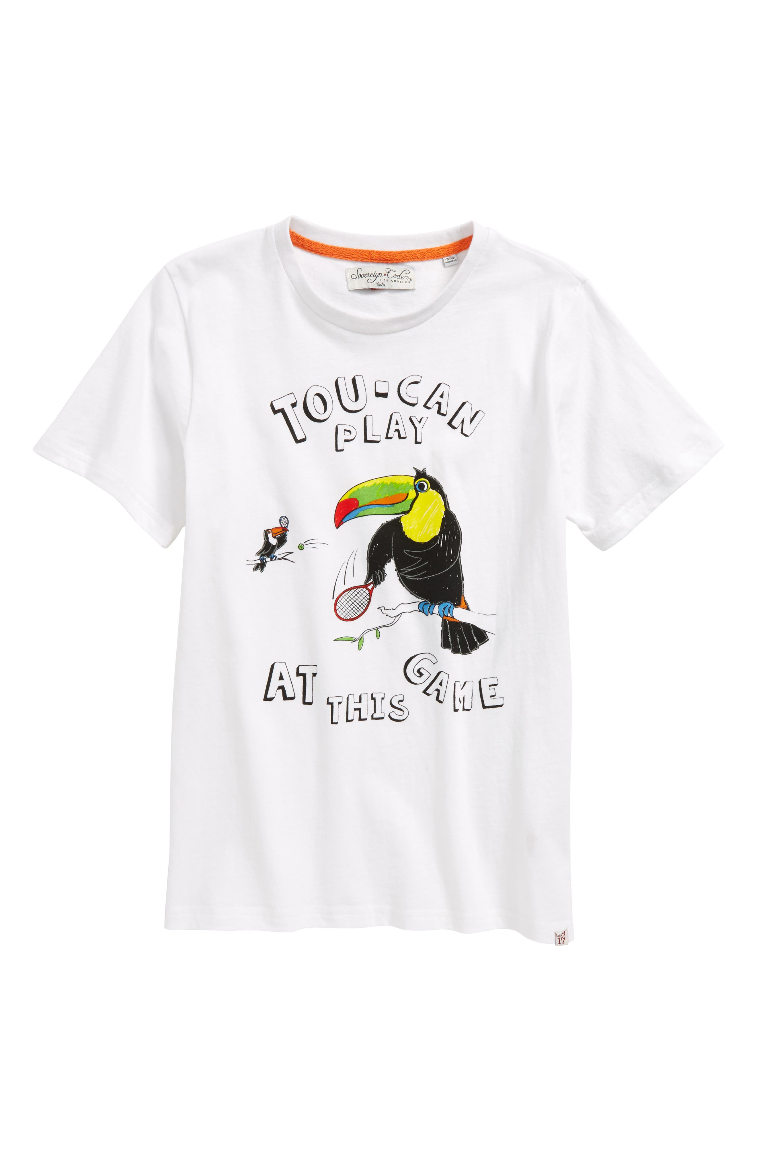 Toucan Play Graphic T-Shirt,                         Main,                         color, White