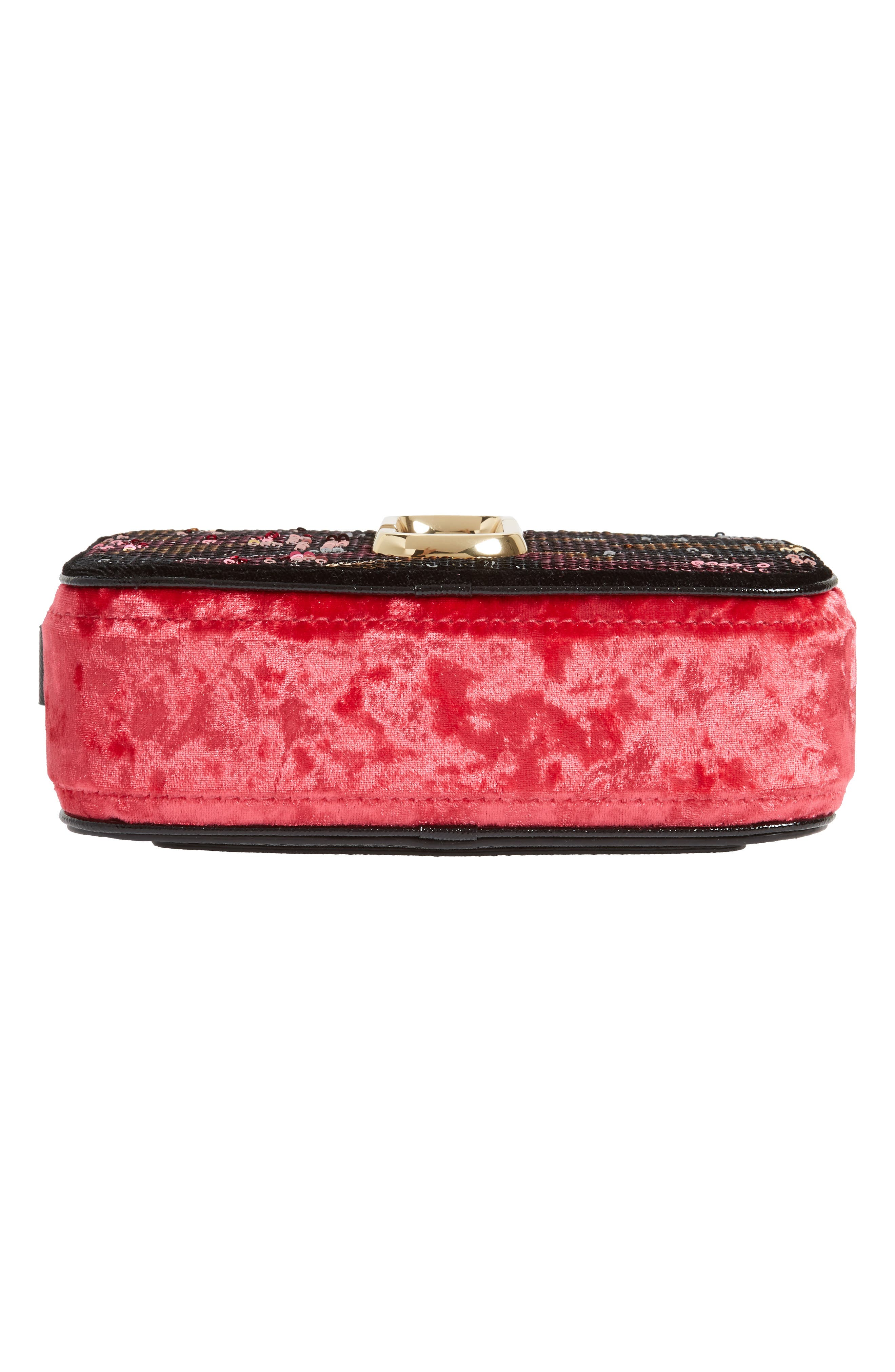 Snapshot Camo Sequin Embellished Crossbody Bag,                             Alternate thumbnail 6, color,                             Pink Multi