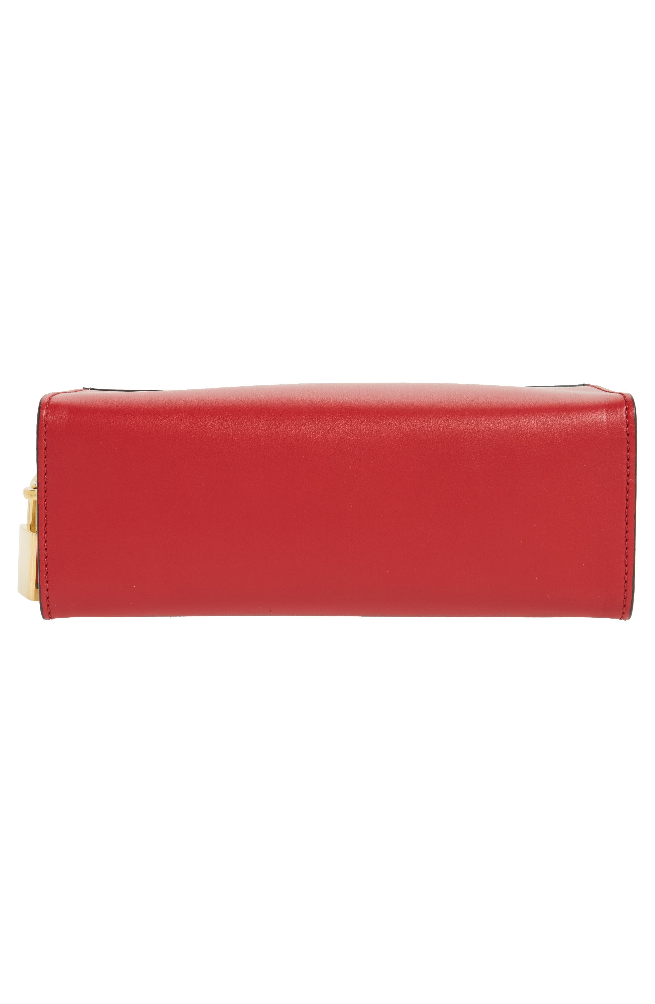 Esplanade Saffiano & City Calfskin Shoulder Bag,                             Alternate thumbnail 6, color,                             Fuoco