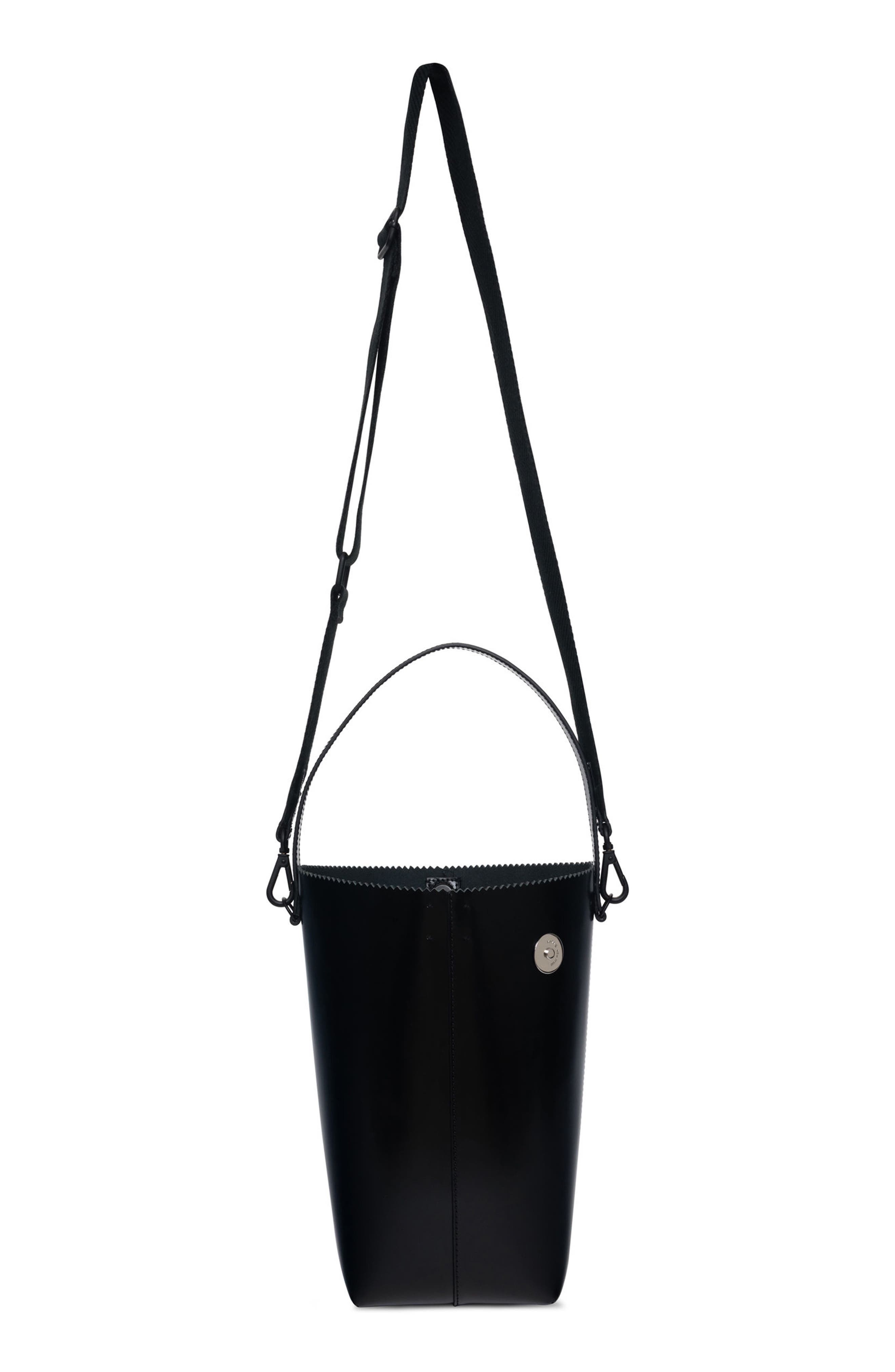 Pinch Pail Bucket Bag,                             Alternate thumbnail 4, color,                             Void Black