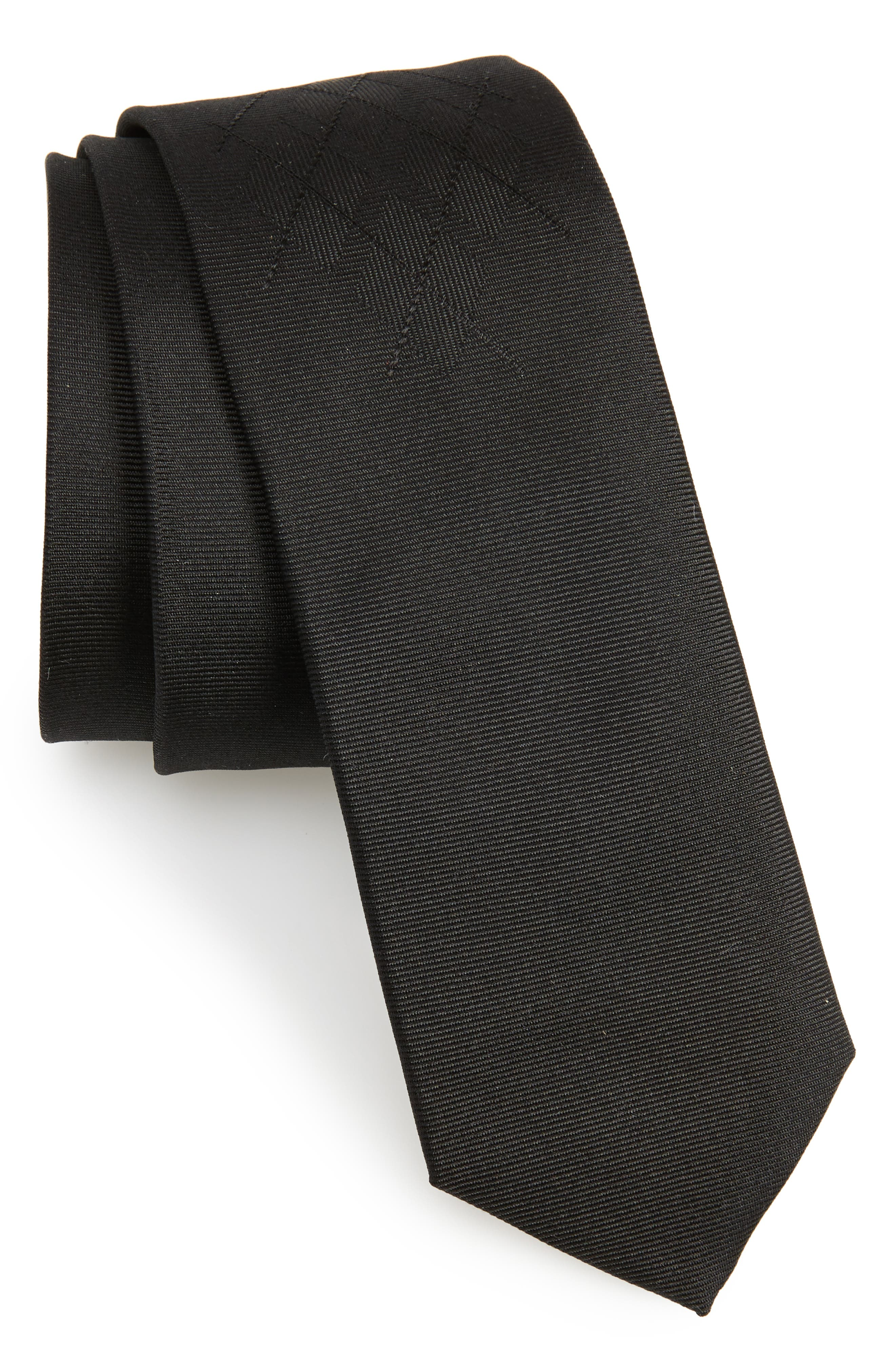 Main Image - BOSS Argyle Silk Skinny Tie