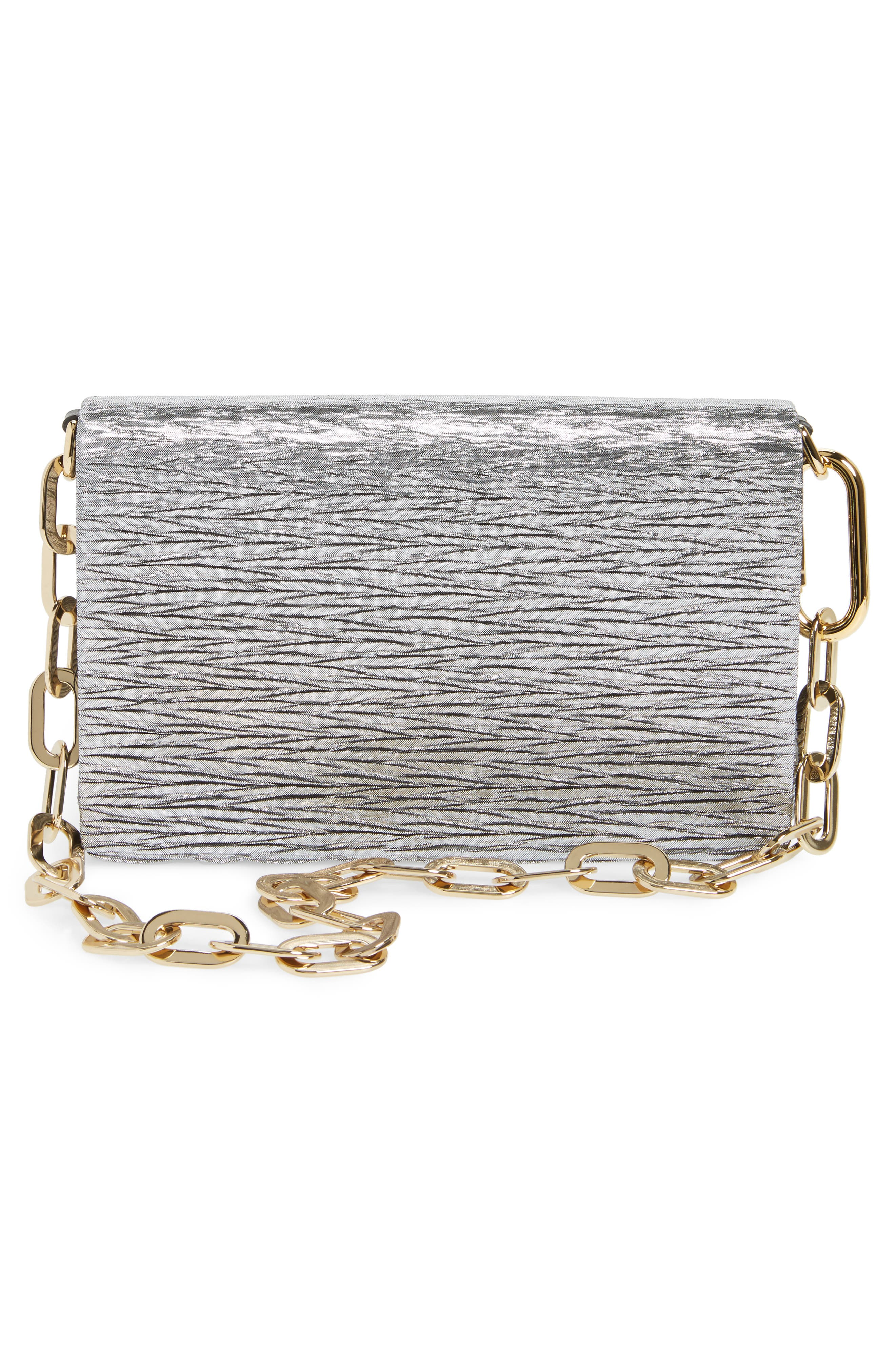 Alternate Image 3  - Dolce&Gabbana Girls Crystal Logo Lamé Shoulder Bag