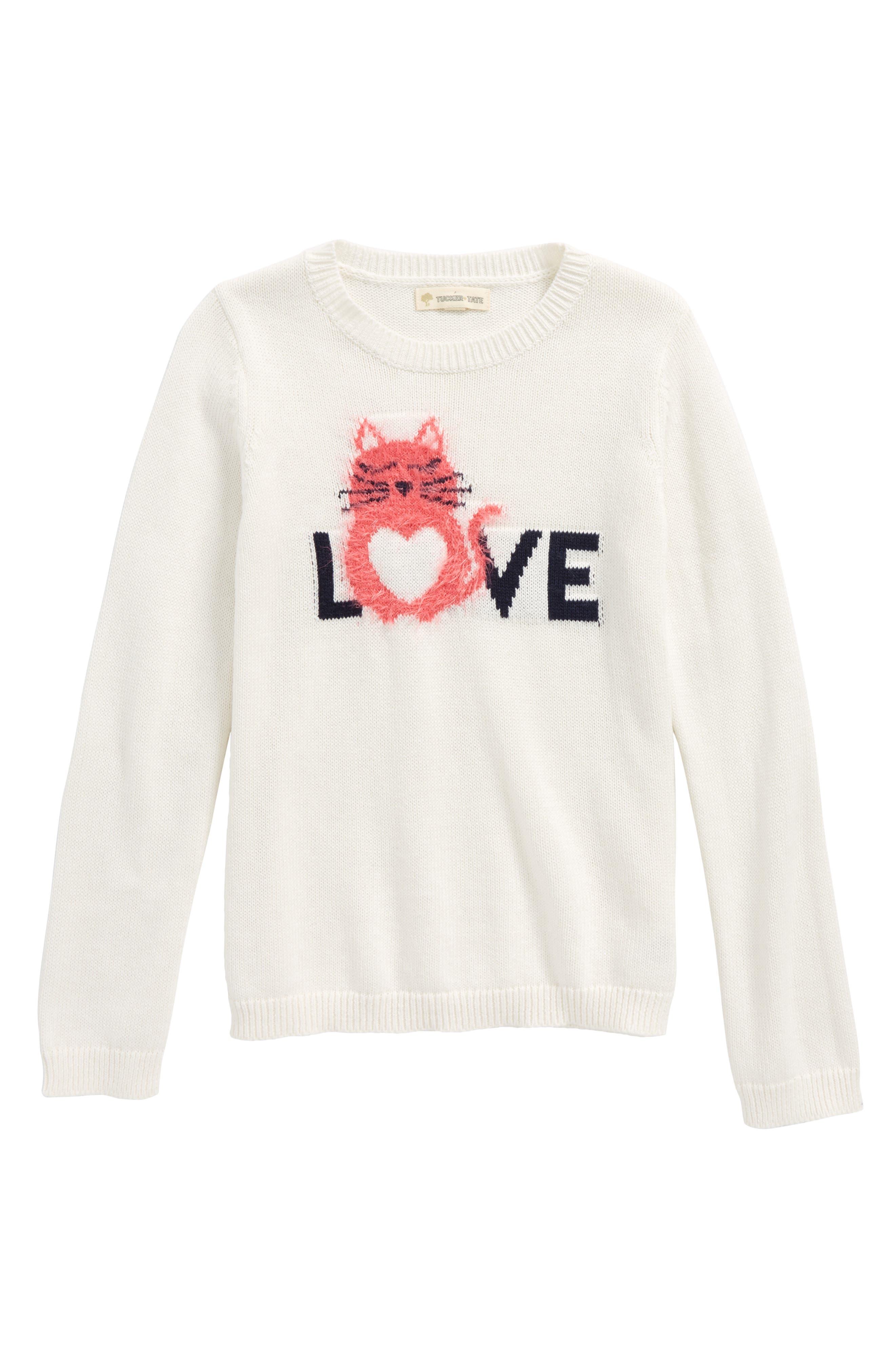 Tucker + Tate Cotton & Cashmere Sweater (Toddler Girls, Little Girls & Big Girls)