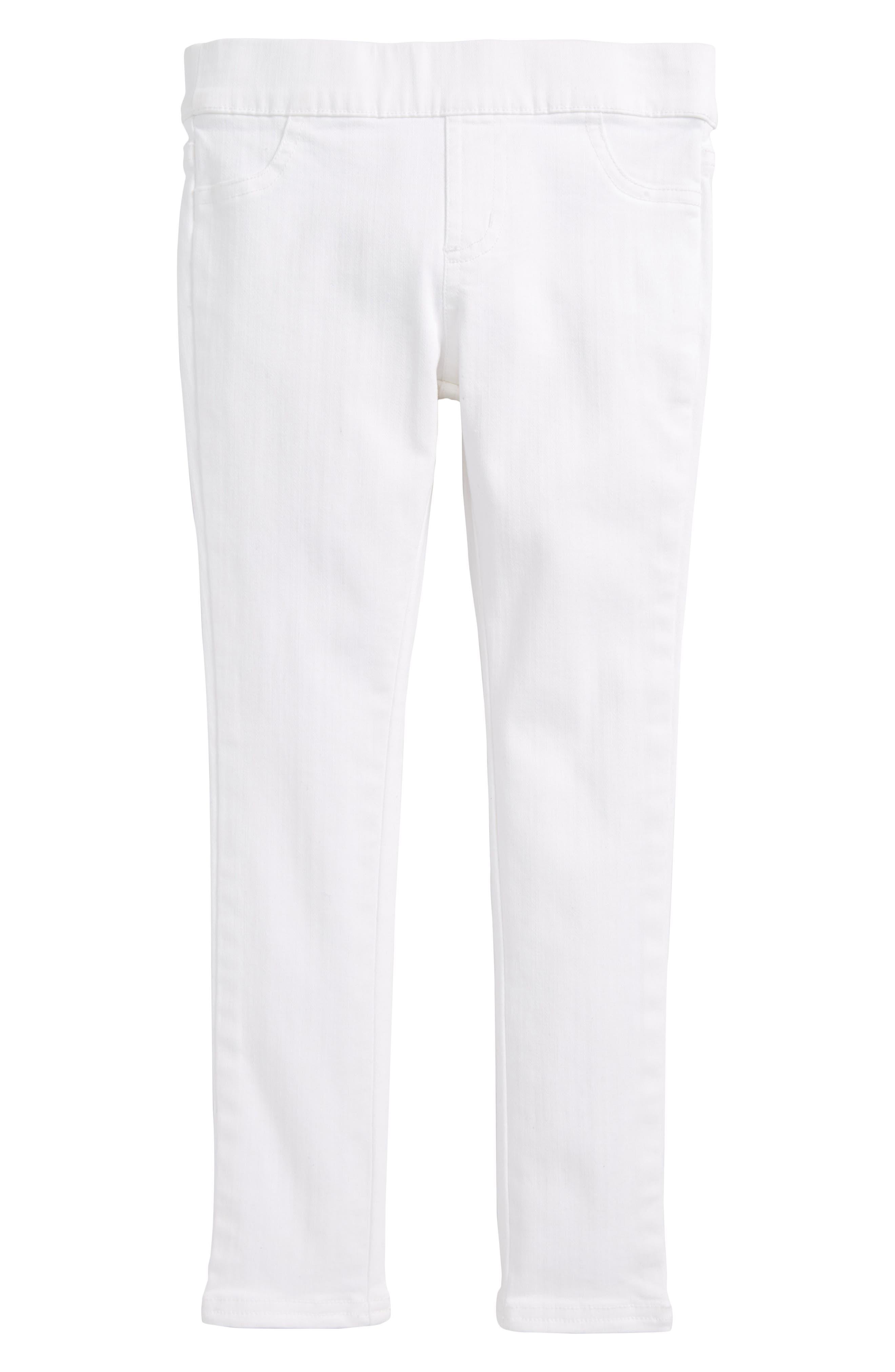 Denim Leggings,                         Main,                         color, White Cap