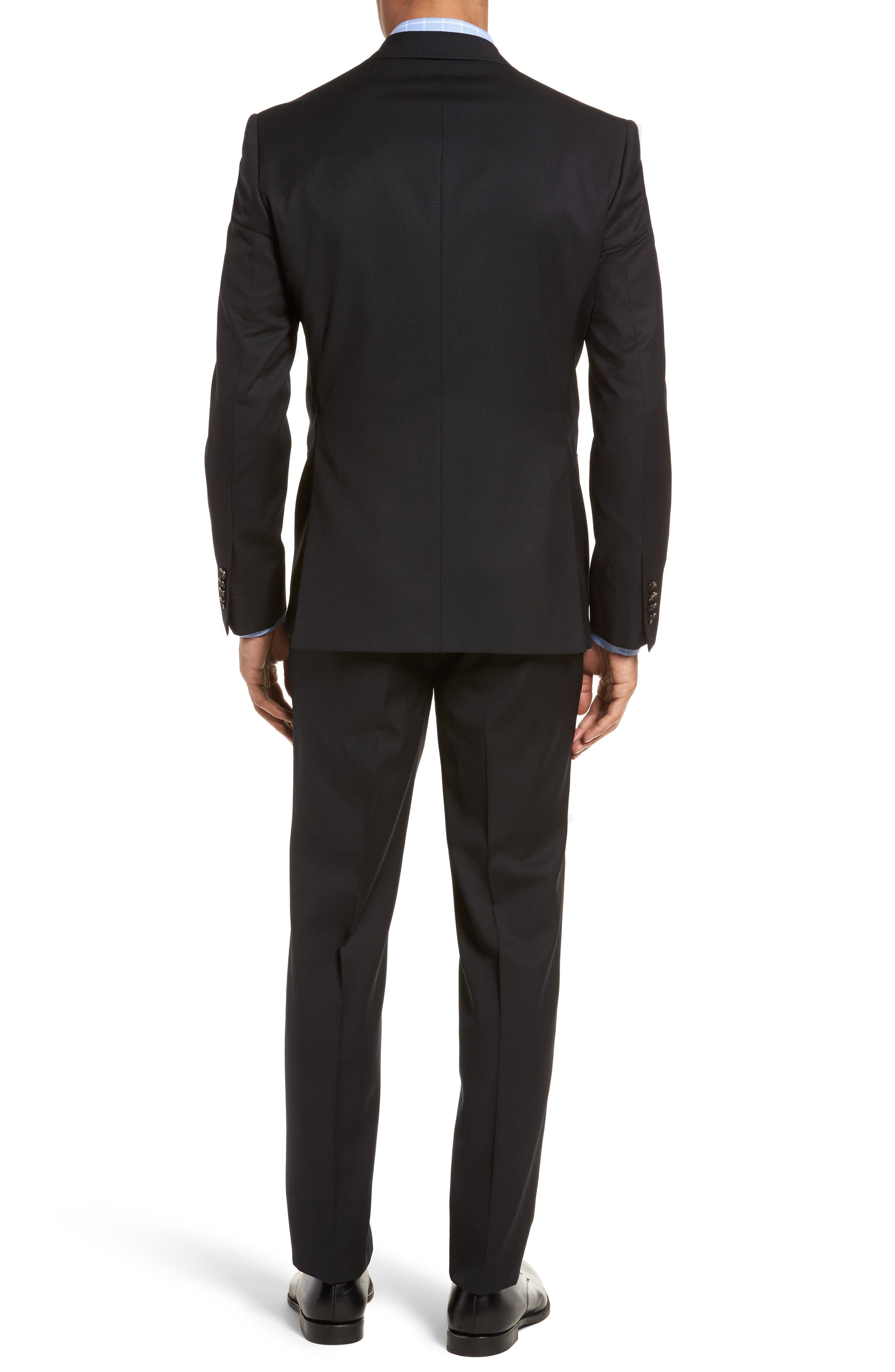 Roger Extra Slim Fit Solid Wool Suit,                             Alternate thumbnail 2, color,                             Black