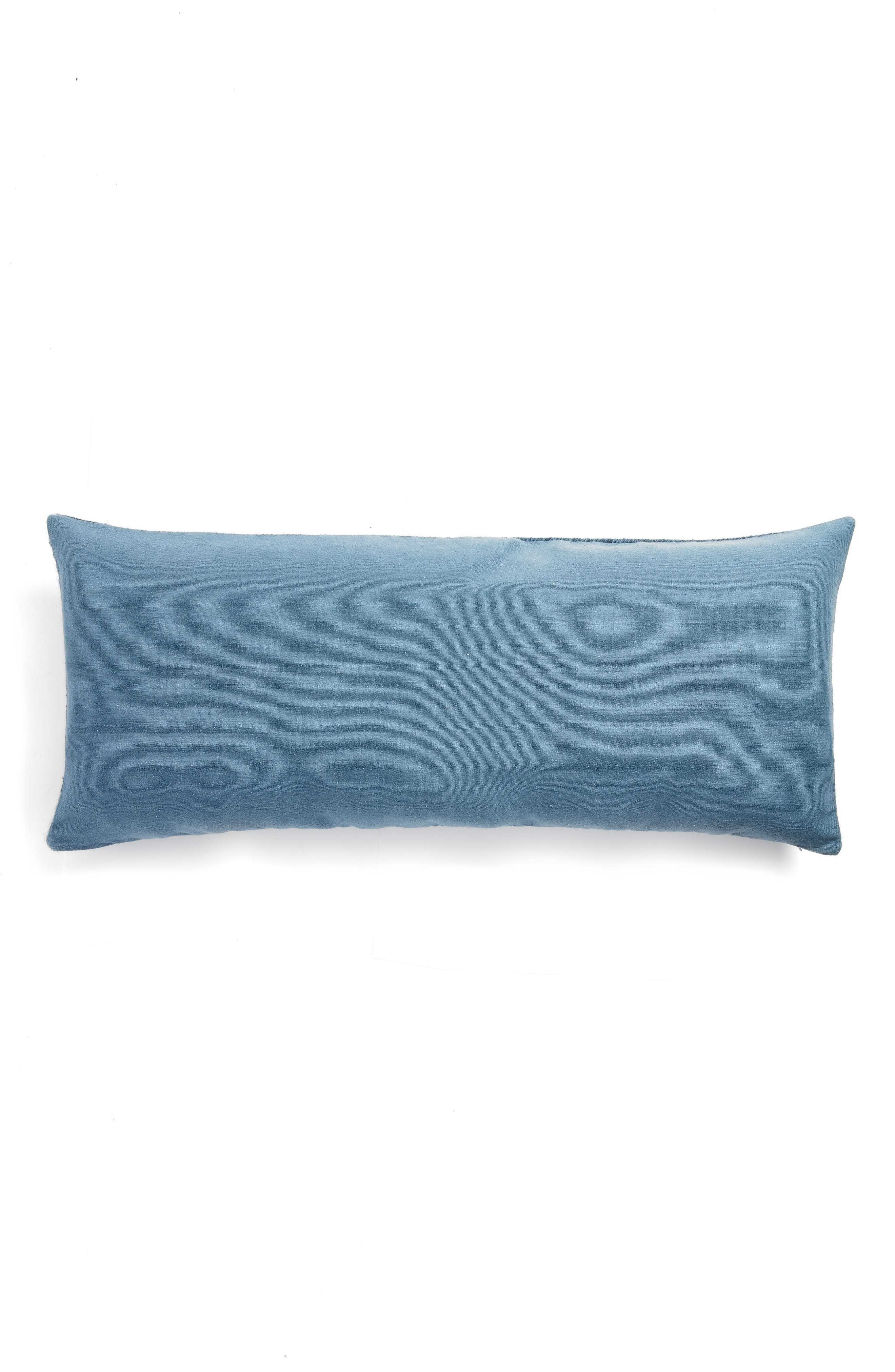 Distressed Geo Accent Pillow,                             Alternate thumbnail 4, color,                             Blue Mirage