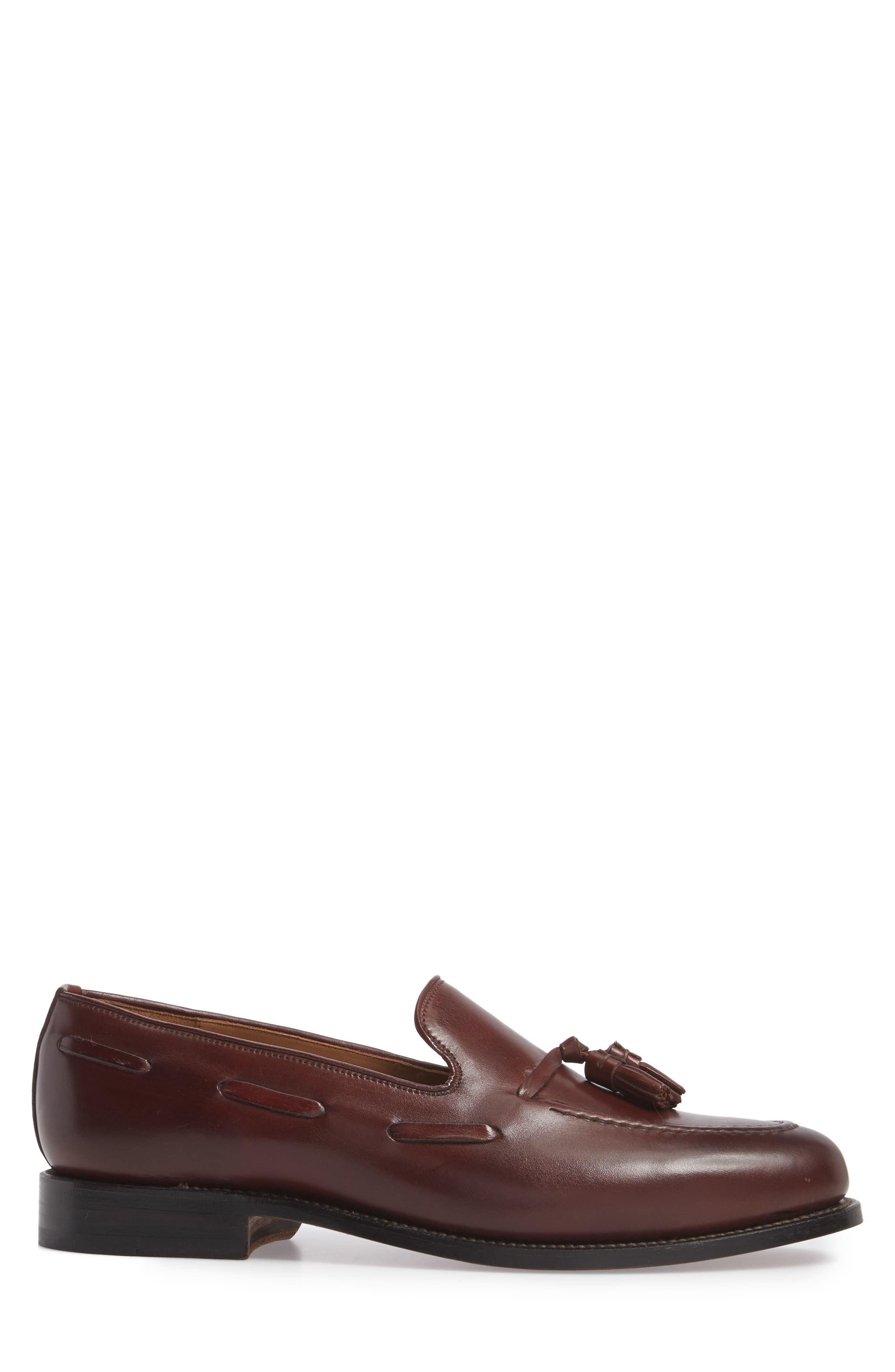 Berkeley Tassel Loafer,                             Alternate thumbnail 3, color,                             Burgundy