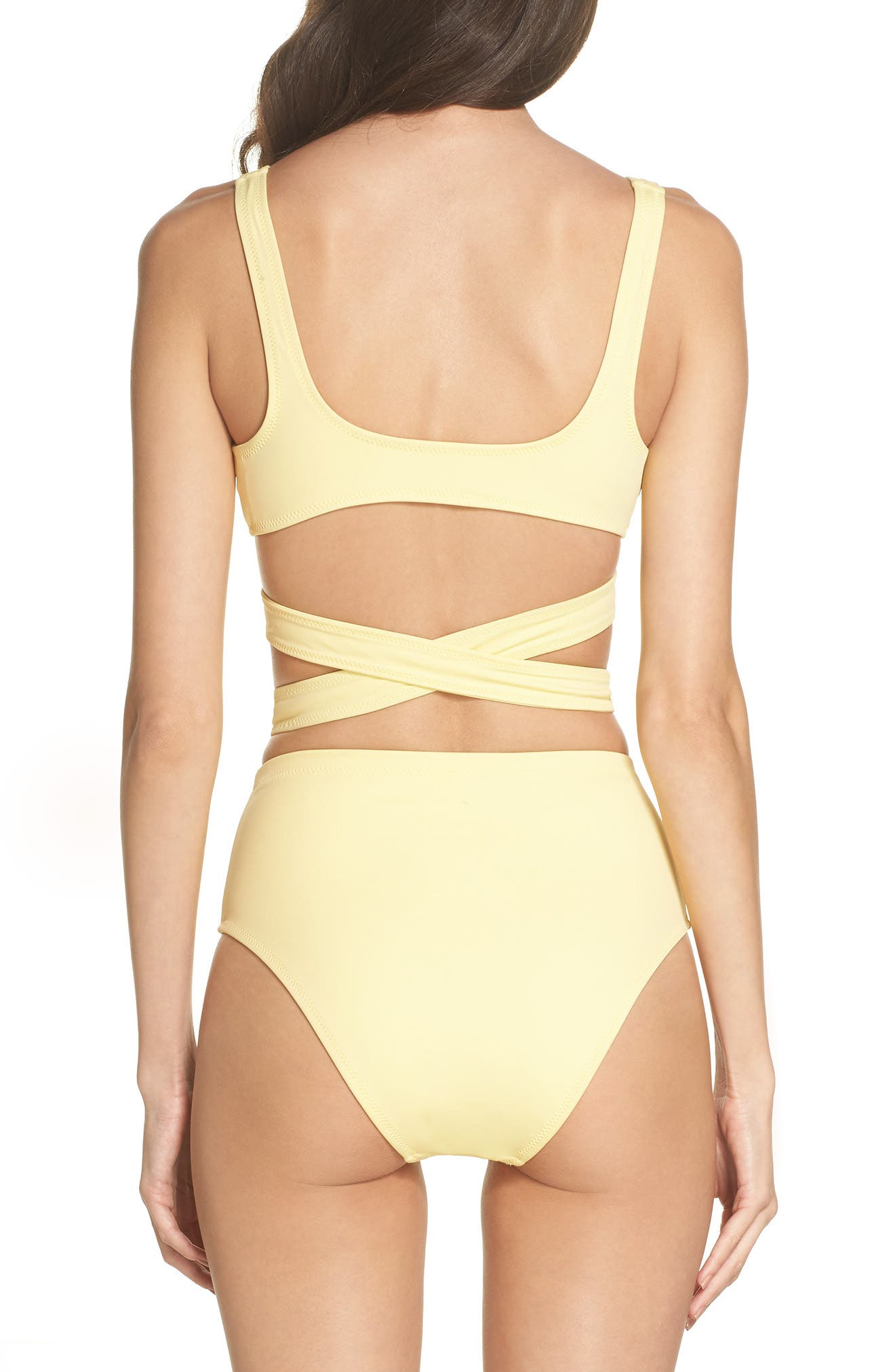 The Lauren Strappy One-Piece Swimsuit,                             Alternate thumbnail 2, color,                             Yellow