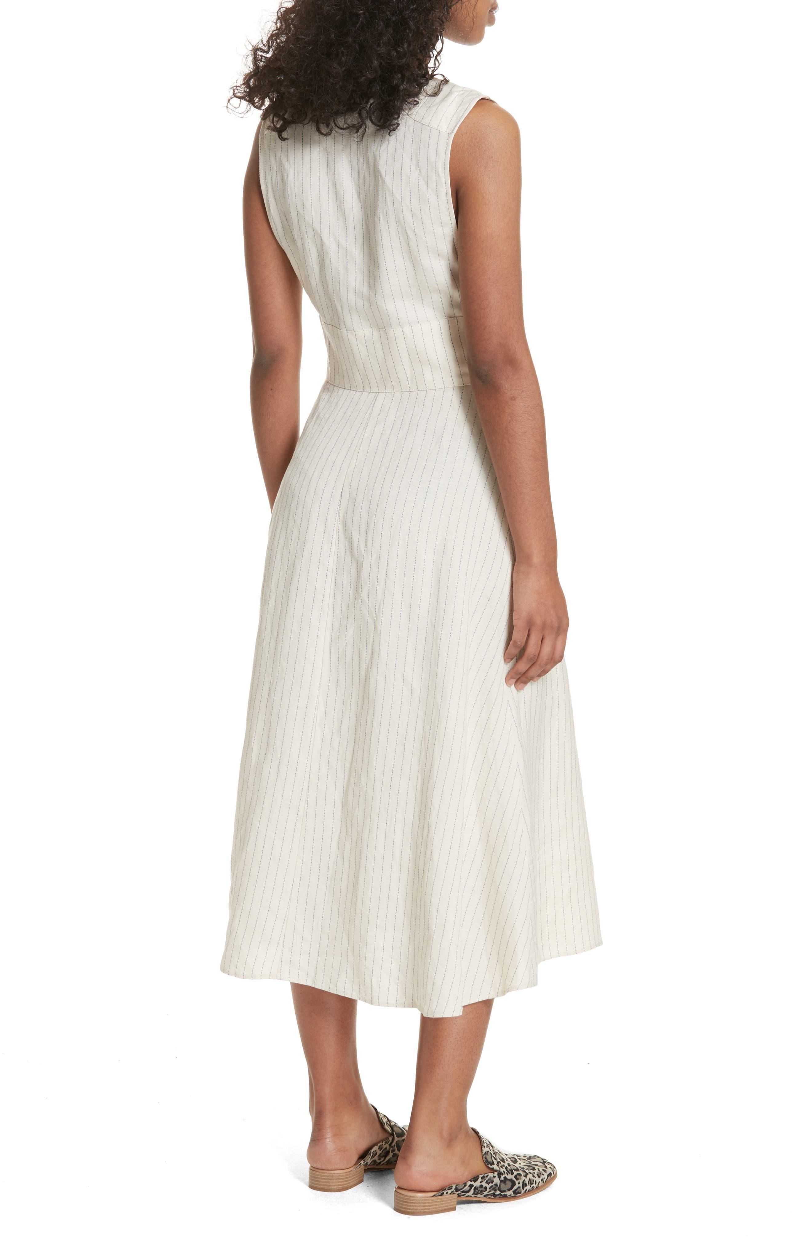 Pretty Daze Midi Dress,                             Alternate thumbnail 2, color,                             Ivory Combo