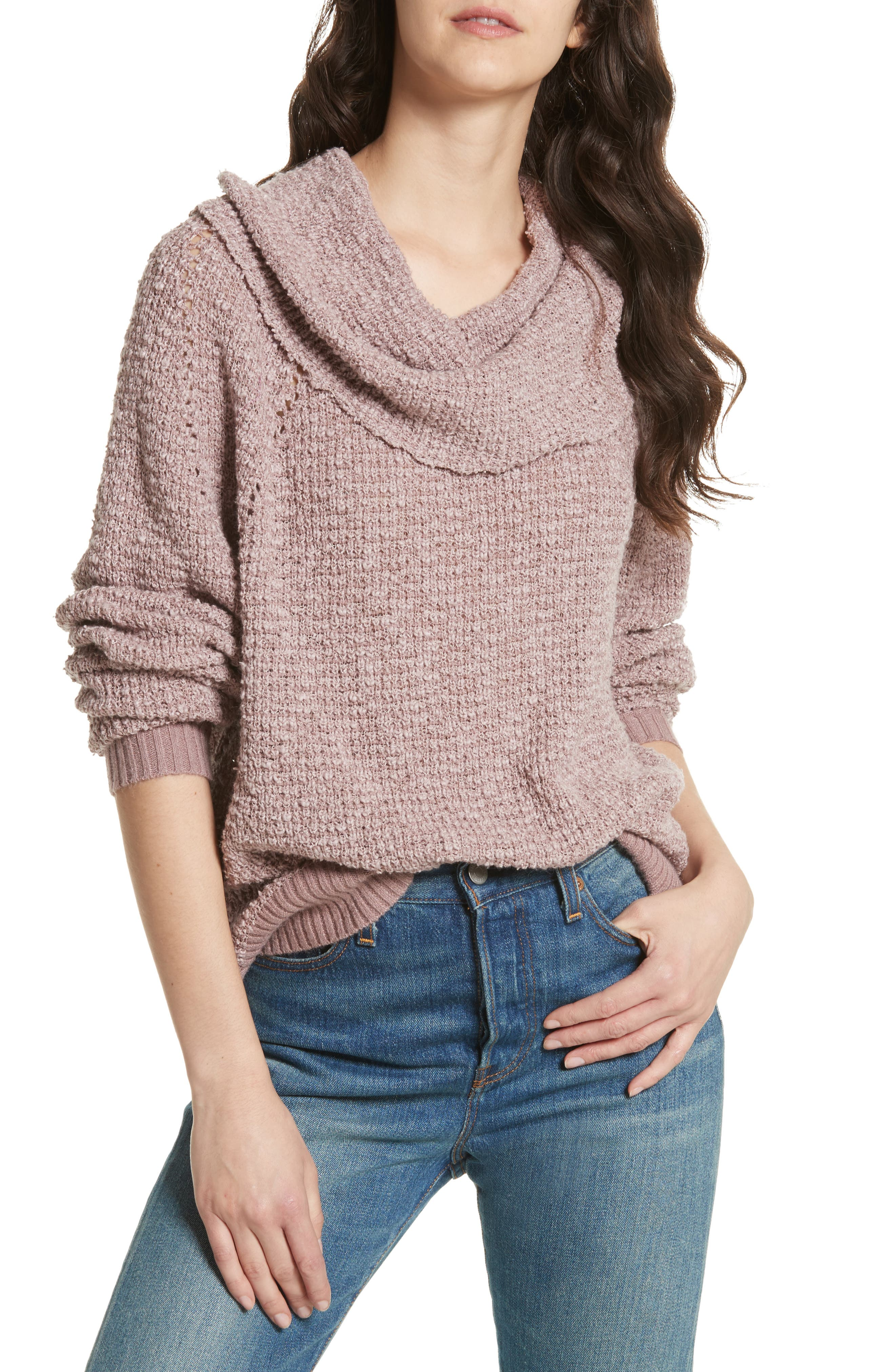 By Your Side Sweater,                             Main thumbnail 1, color,                             Mauve