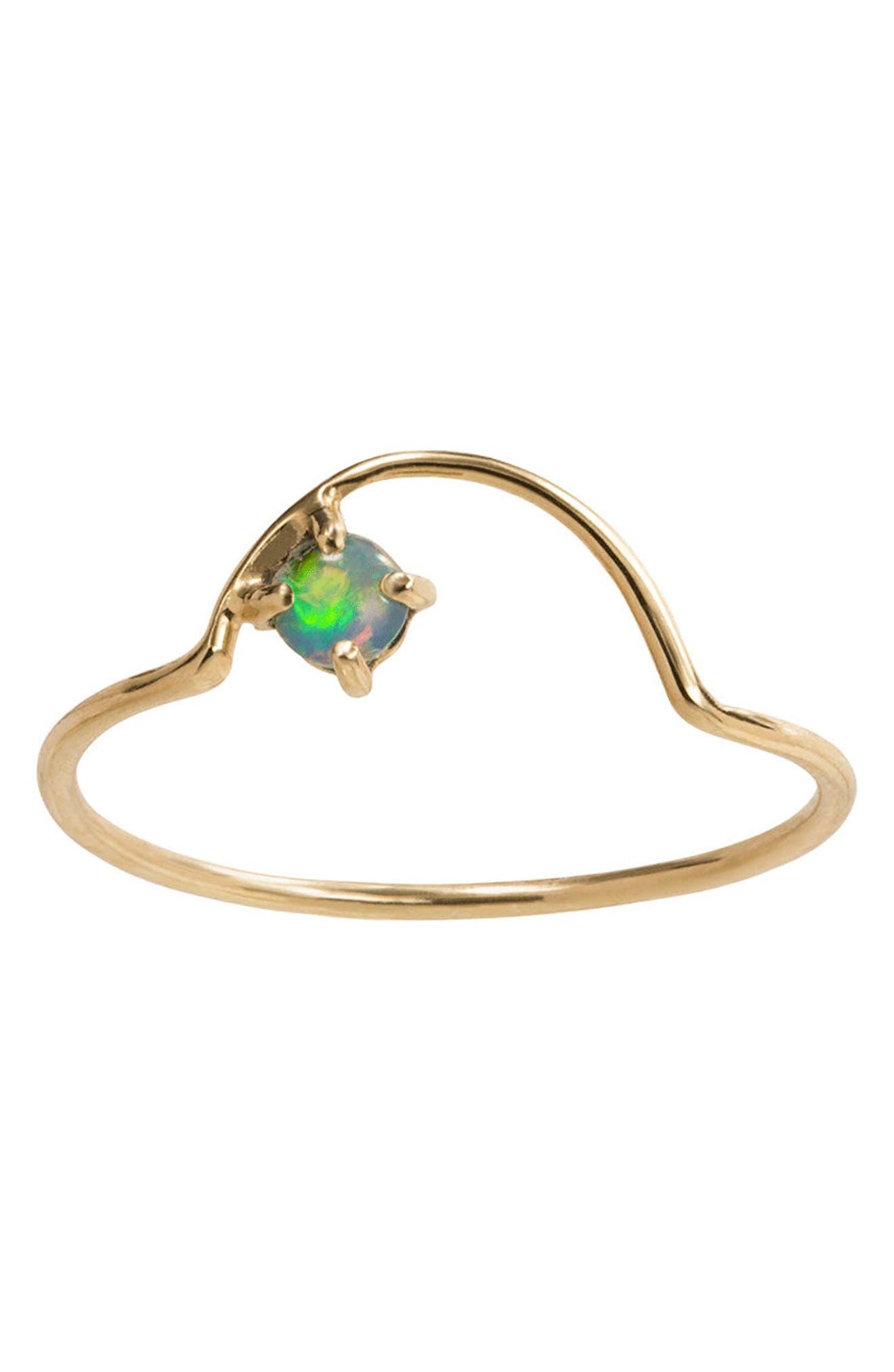 Alternate Image 1 Selected - WWAKE Offset Opal Arc Ring