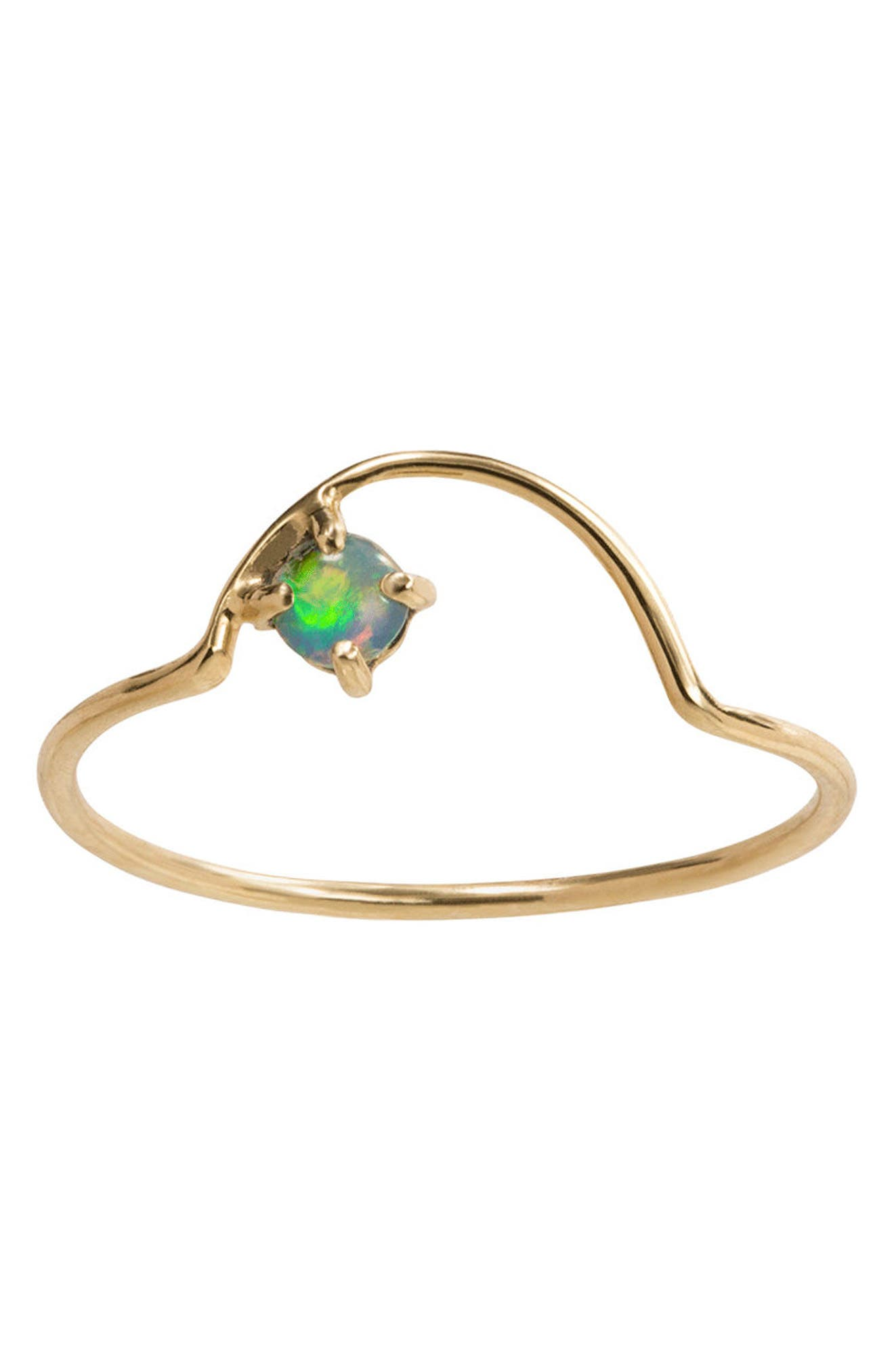 Offset Opal Arc Ring,                         Main,                         color, Opal/ Gold