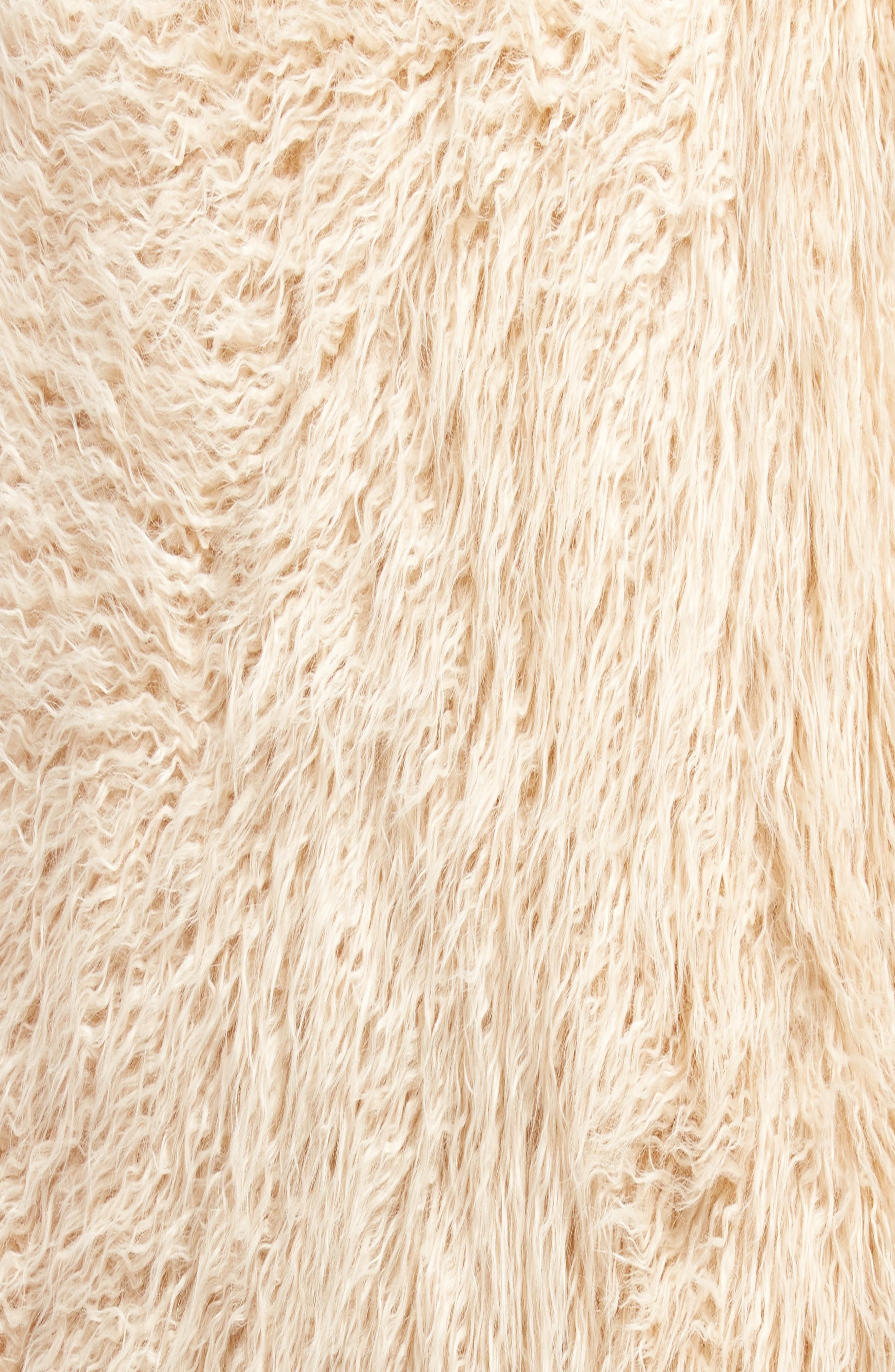 Curly Faux Fur Pillow,                             Alternate thumbnail 3, color,                             Beige Beach